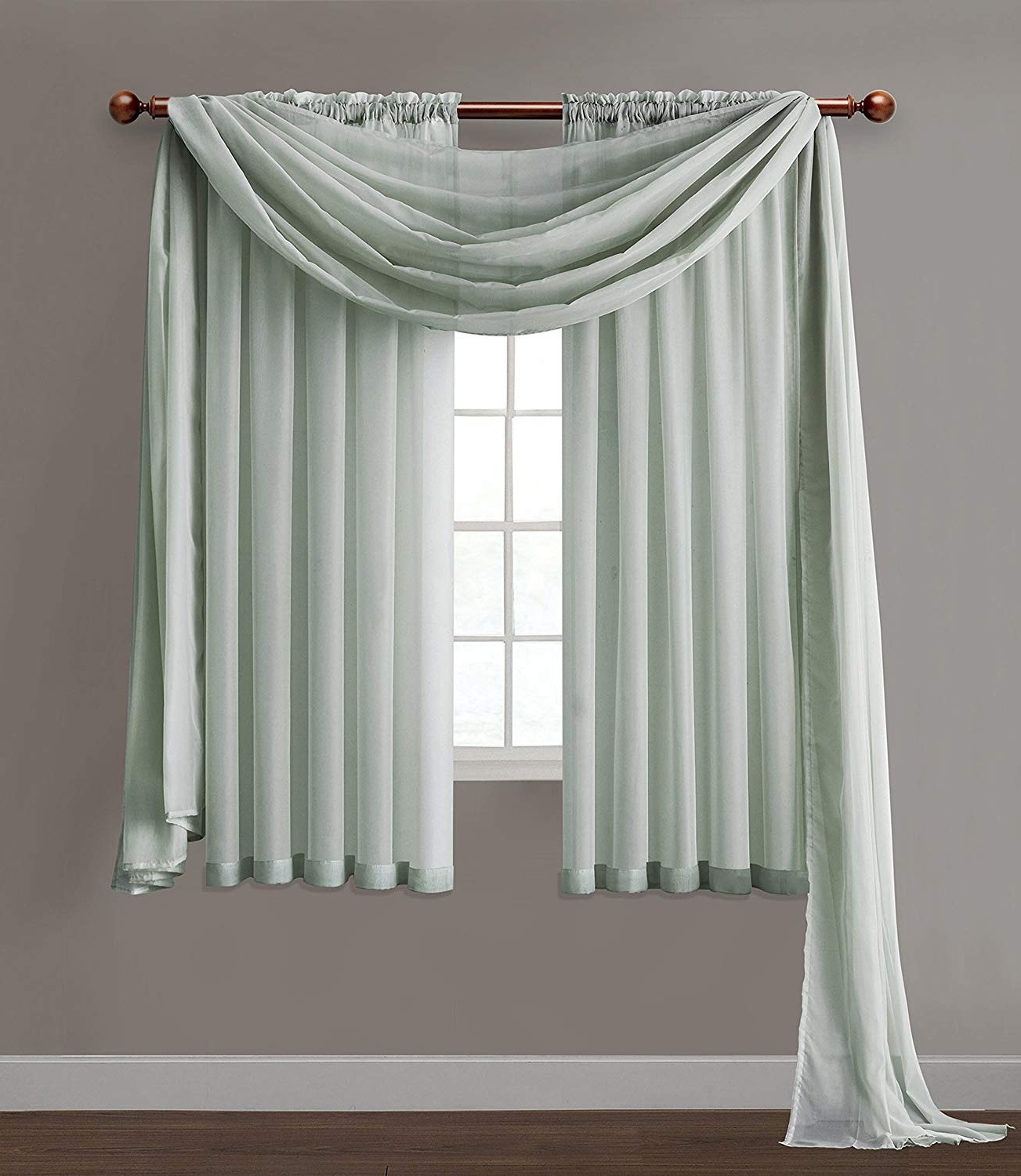 Well Known Vcny Inf Pnl 5595 In Wl Infinity Sheer Panel, 5595 Inch, Wedgewood Blue For Infinity Sheer Rod Pocket Curtain Panels (View 18 of 20)