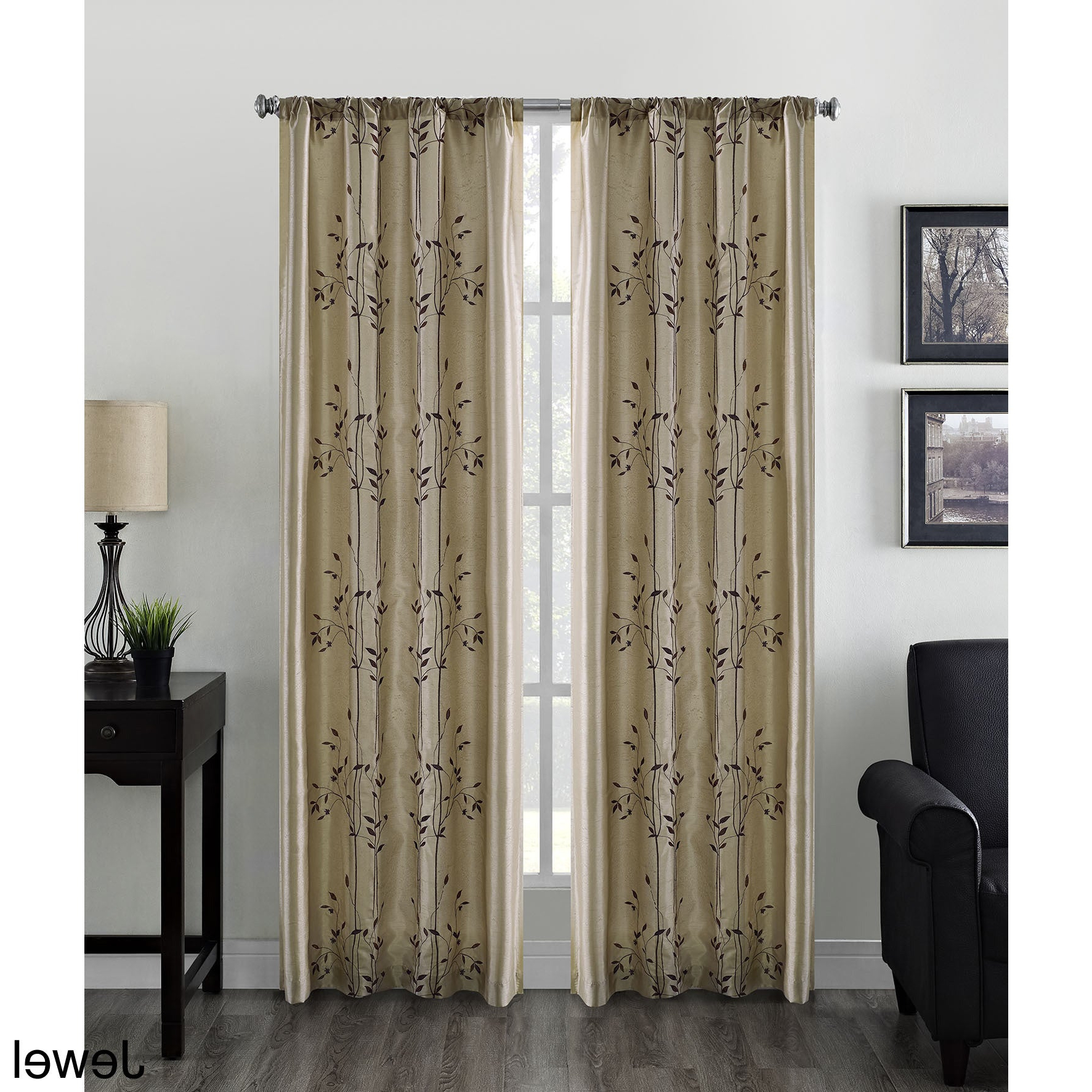 Well Known Willow Rod Pocket Window Curtain Panels In Willow Faux Silk Embroidered Rod Pocket Curtain Panel – 50 X (View 9 of 20)