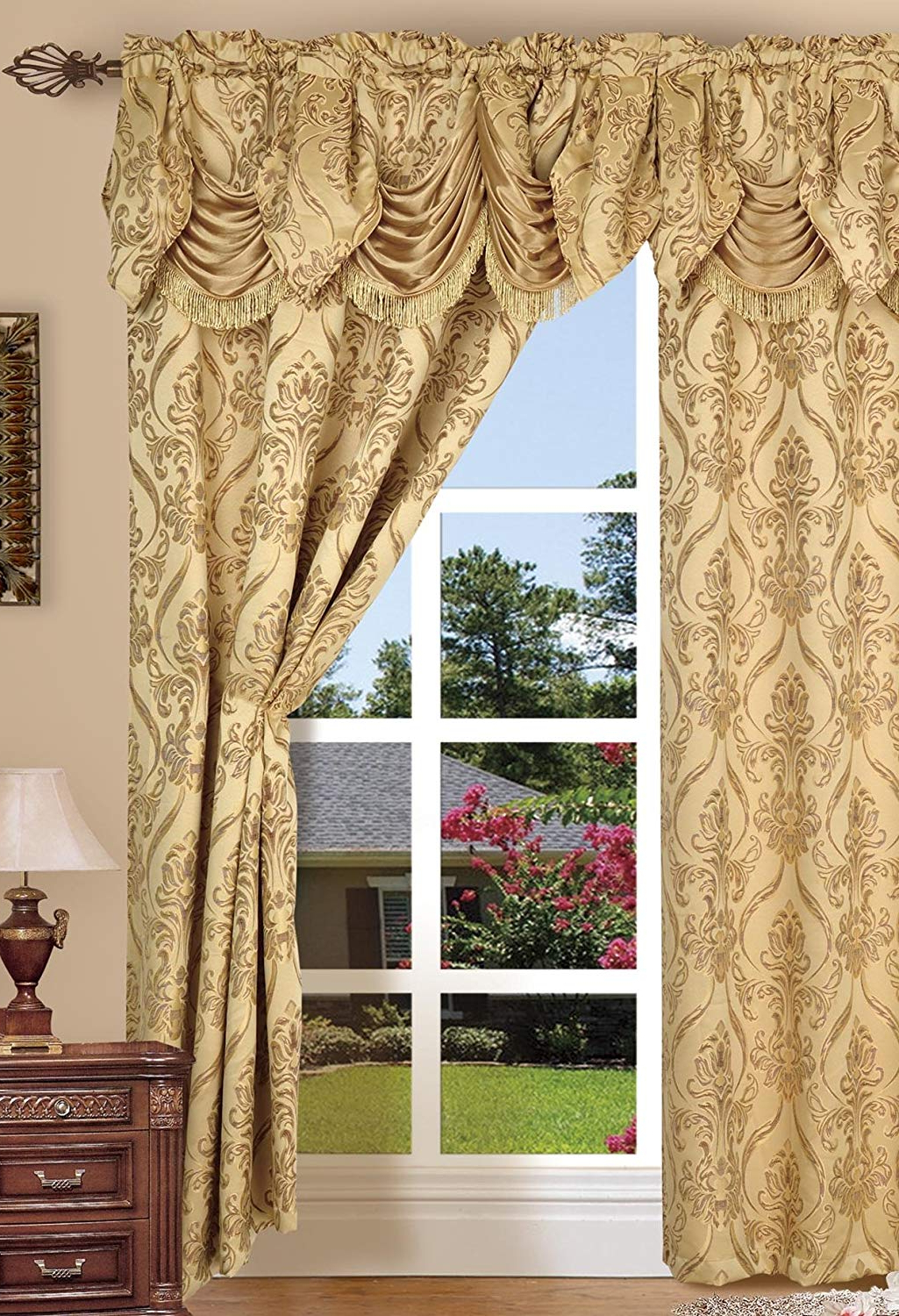 Well Known Window Valances You'll Love To Buy Today – Recipes With More Pertaining To Elegant Comfort Luxury Penelopie Jacquard Window Curtain Panel Pairs (View 13 of 20)