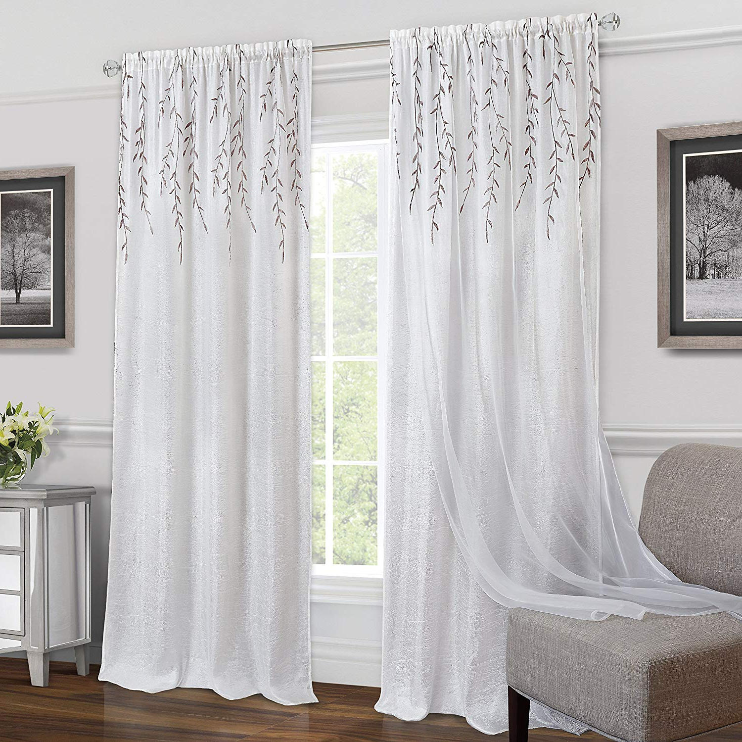 Featured Photo of Willow Rod Pocket Window Curtain Panels