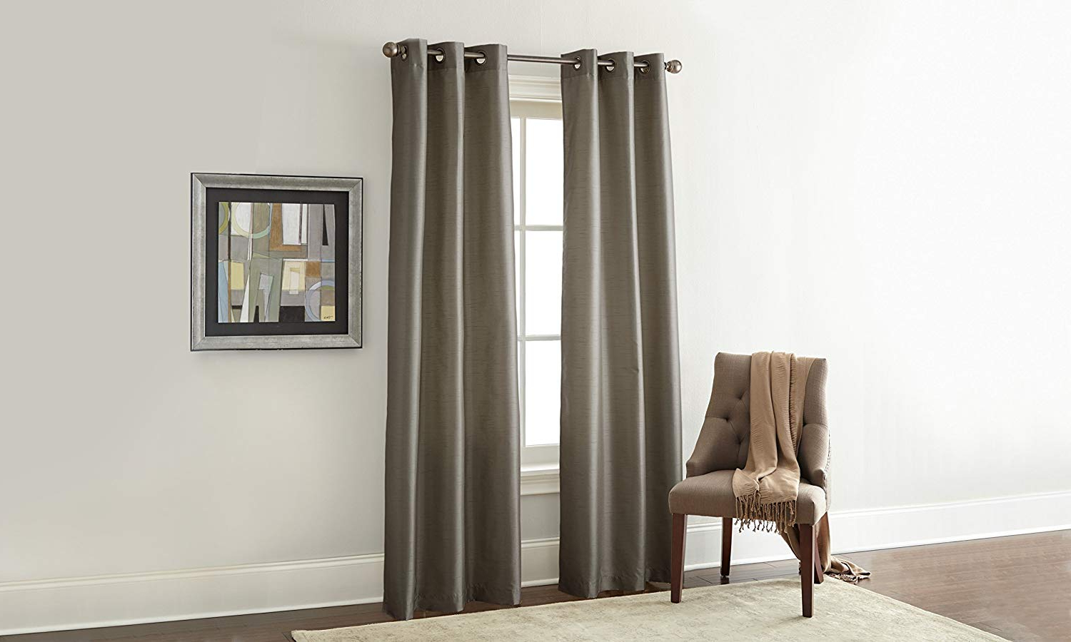 Well Liked Amrapur Overseas Faux Silk Blackout Curtain Panel Pair, 37 X 84, Mocha Pertaining To Overseas Faux Silk Blackout Curtain Panel Pairs (View 19 of 20)