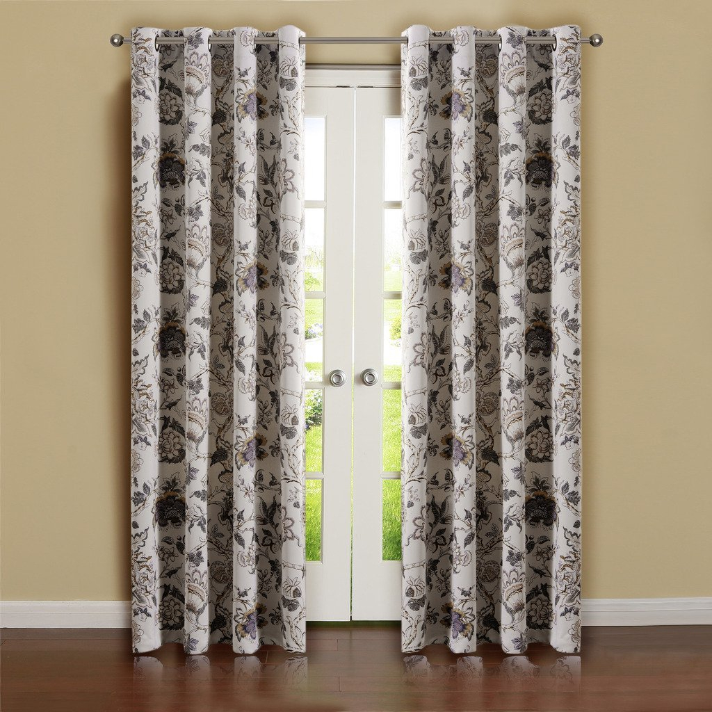 Well Liked Antique Silver Grommet Top Thermal Insulated Blackout Curtain Panel Pairs Inside Buy H (View 20 of 20)