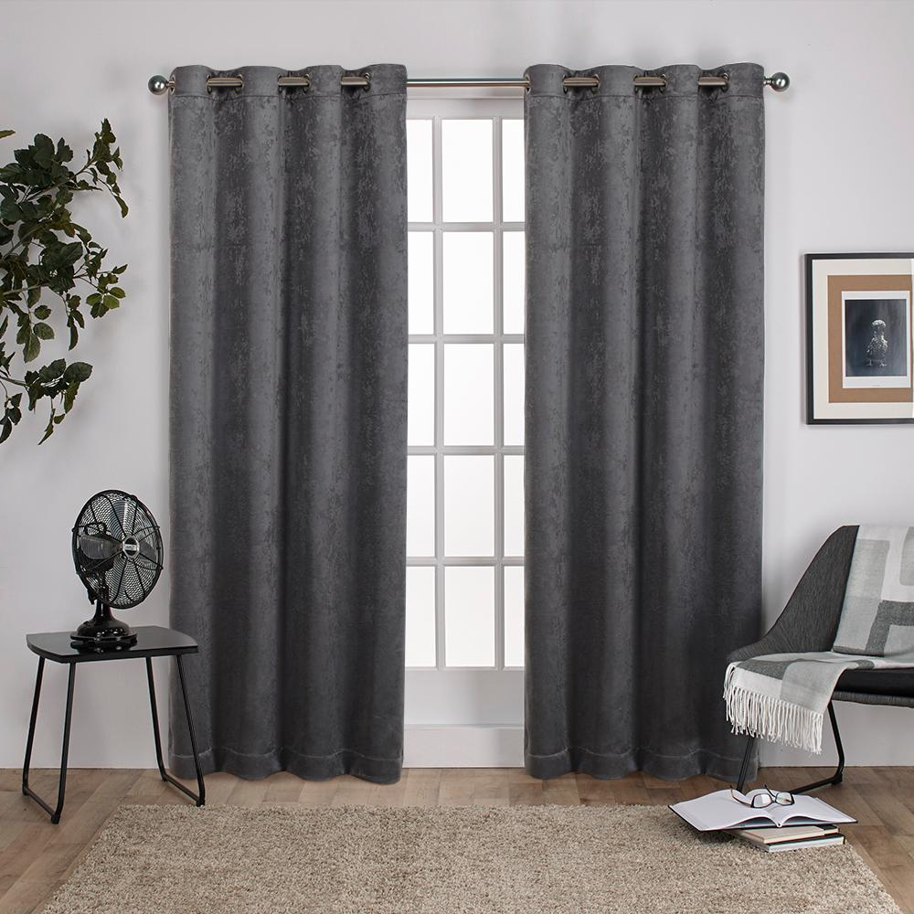 Well Liked Antique Silver Grommet Top Thermal Insulated Blackout Curtain Panel Pairs Throughout Antique Shantung 52 In. W X 96 In (View 7 of 20)