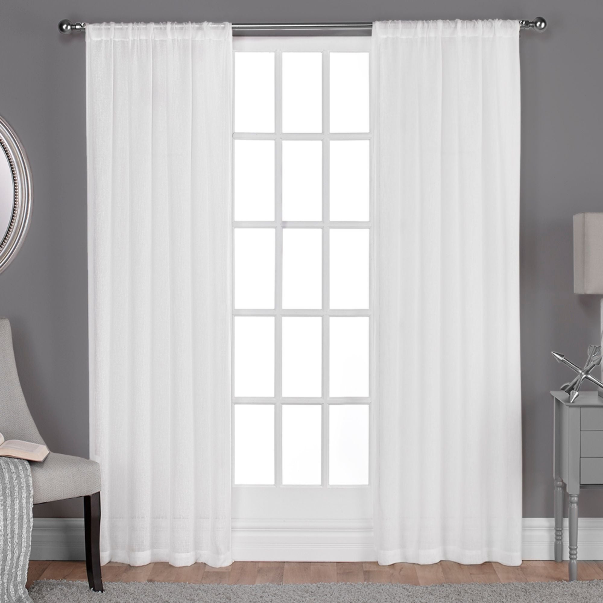 Well Liked Ati Home Belgian Sheer Window Curtain Panel Pair With Rod Pocket In Belgian Sheer Window Curtain Panel Pairs With Rod Pocket (View 4 of 20)