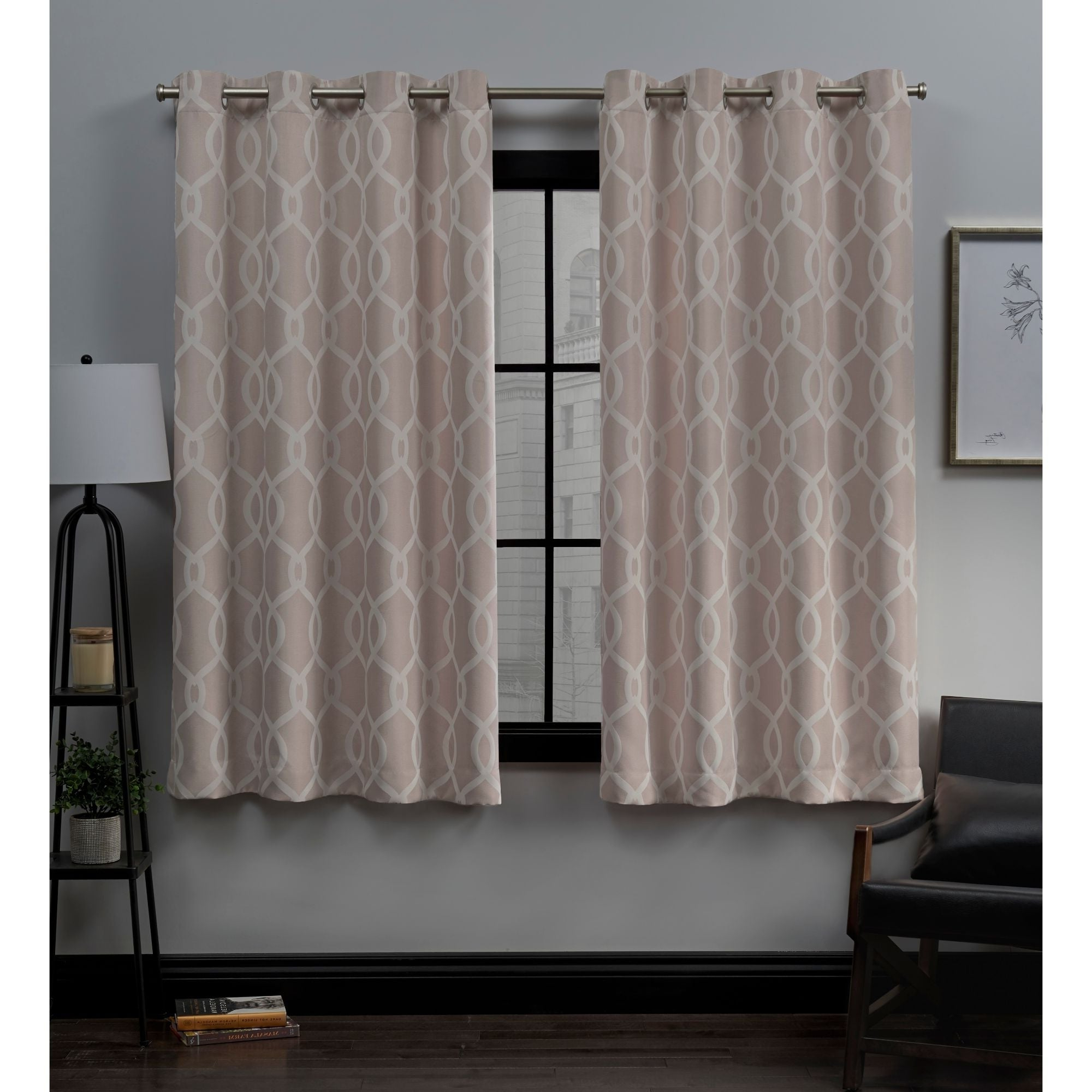 Well Liked Ati Home Trilogi Woven Blackout Grommet Top Curtain Panel Pair Intended For Woven Blackout Curtain Panel Pairs With Grommet Top (View 2 of 20)