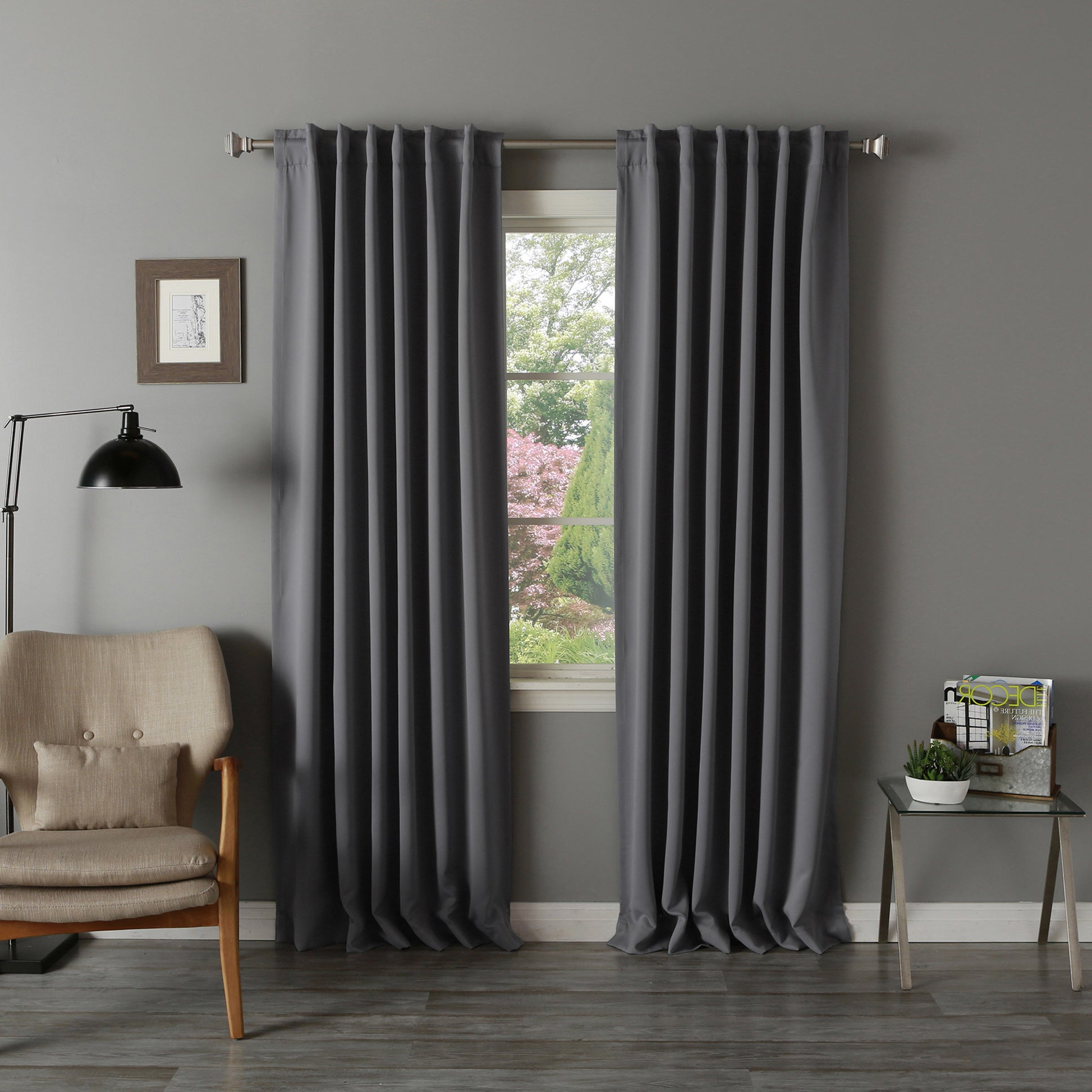 Well Liked Aurora Home Thermal Rod Pocket 96 Inch Blackout Curtain Panel Pair – 52 X 96 In Thermal Rod Pocket Blackout Curtain Panel Pairs (View 19 of 20)