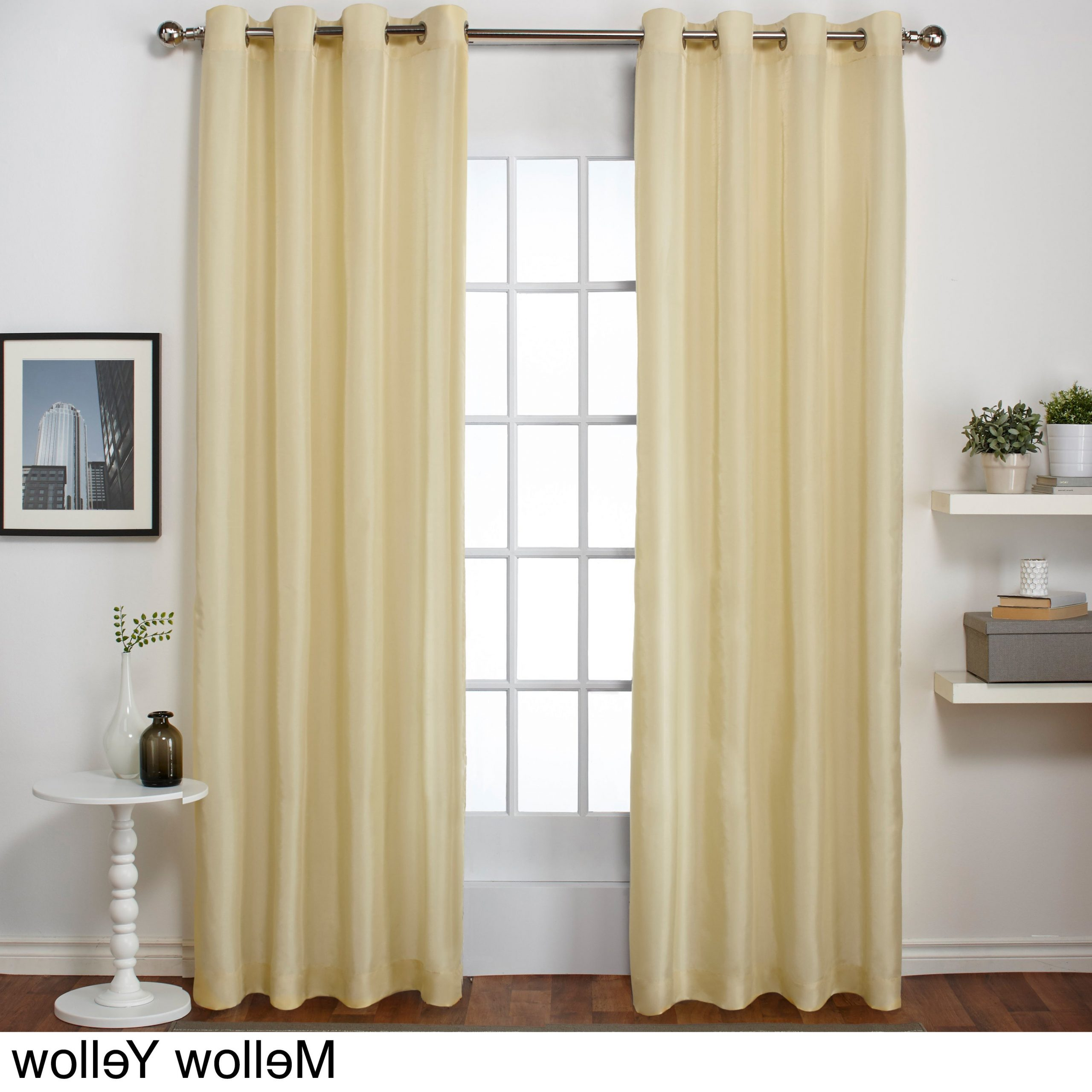 """Well Liked Copper Grove Fulgence Faux Silk Grommet Top Panel Curtains – 96"""" In Teal (as Is Item) In Copper Grove Fulgence Faux Silk Grommet Top Panel Curtains (View 9 of 20)"""