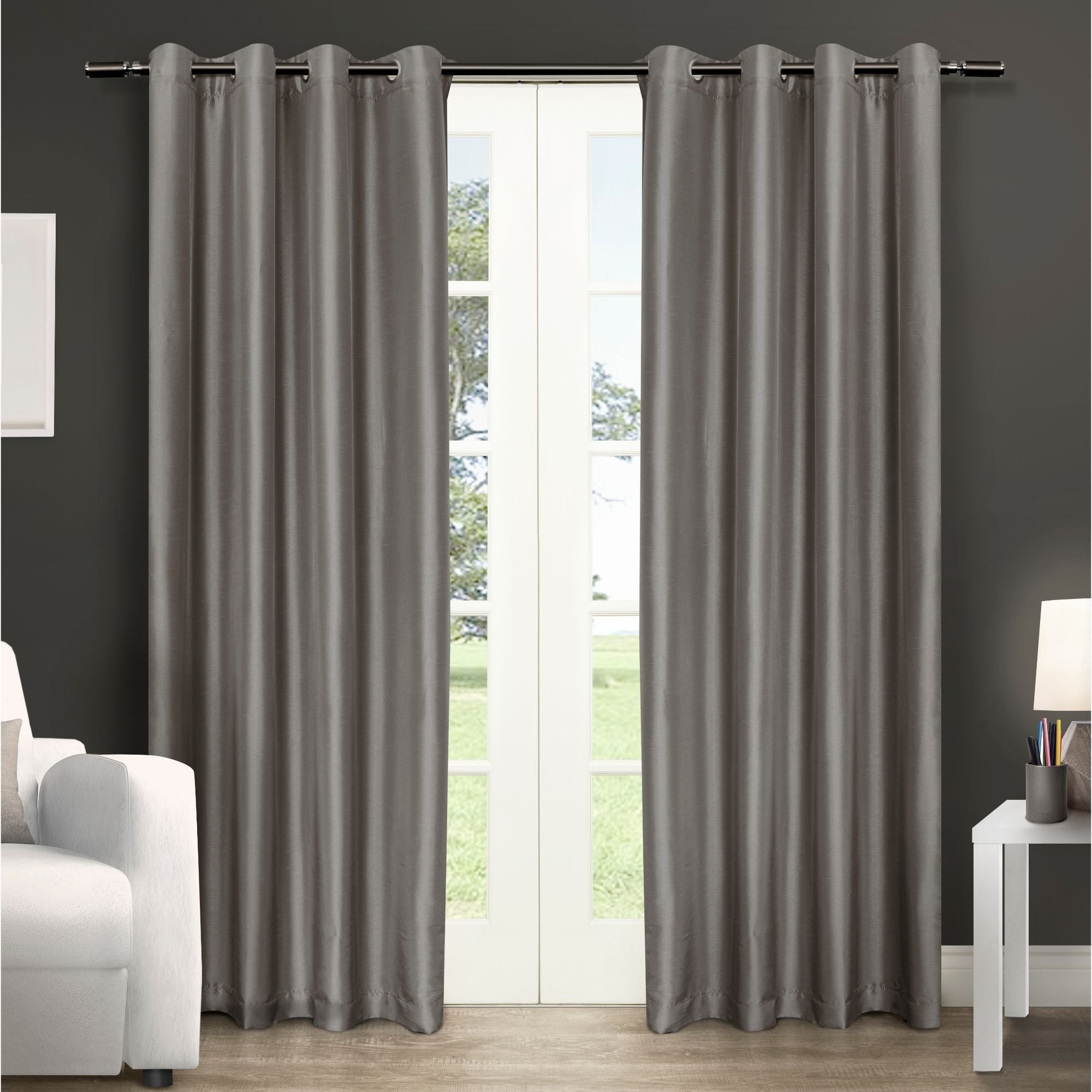 Featured Photo of Copper Grove Fulgence Faux Silk Grommet Top Panel Curtains