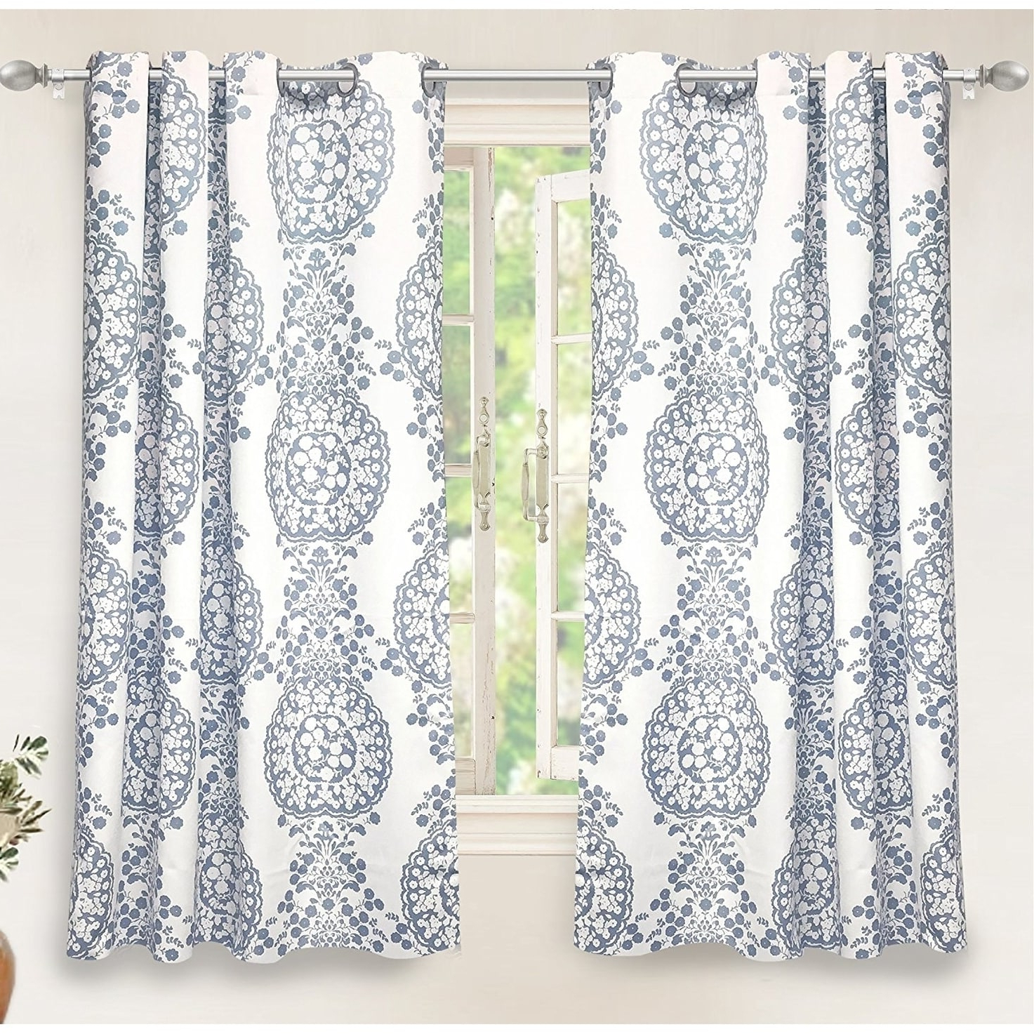 Well Liked Driftaway Samantha Thermal/room Darkening Window Curtain Pertaining To Pastel Damask Printed Room Darkening Grommet Window Curtain Panel Pairs (View 5 of 20)