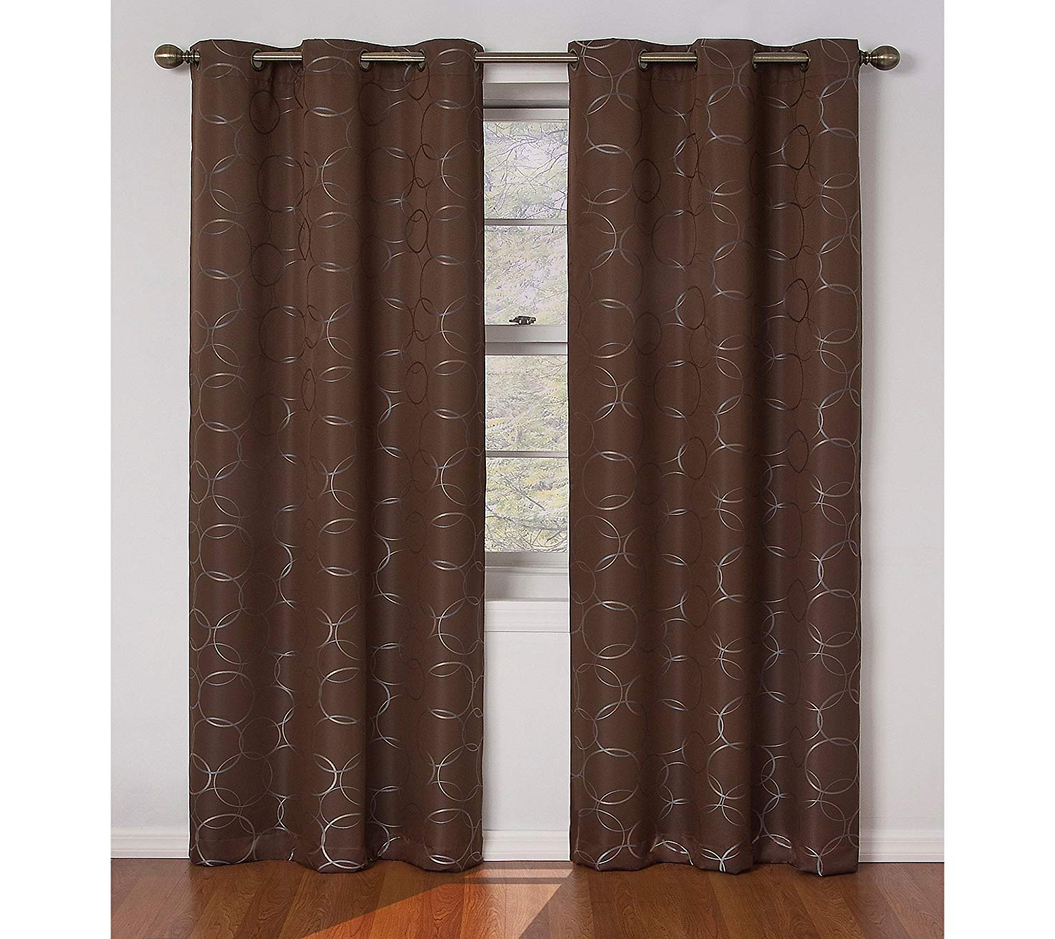 Well Liked Eclipse Meridian 84 Inch Blackout Window Curtain Panel, Brown Pertaining To Meridian Blackout Window Curtain Panels (View 4 of 20)