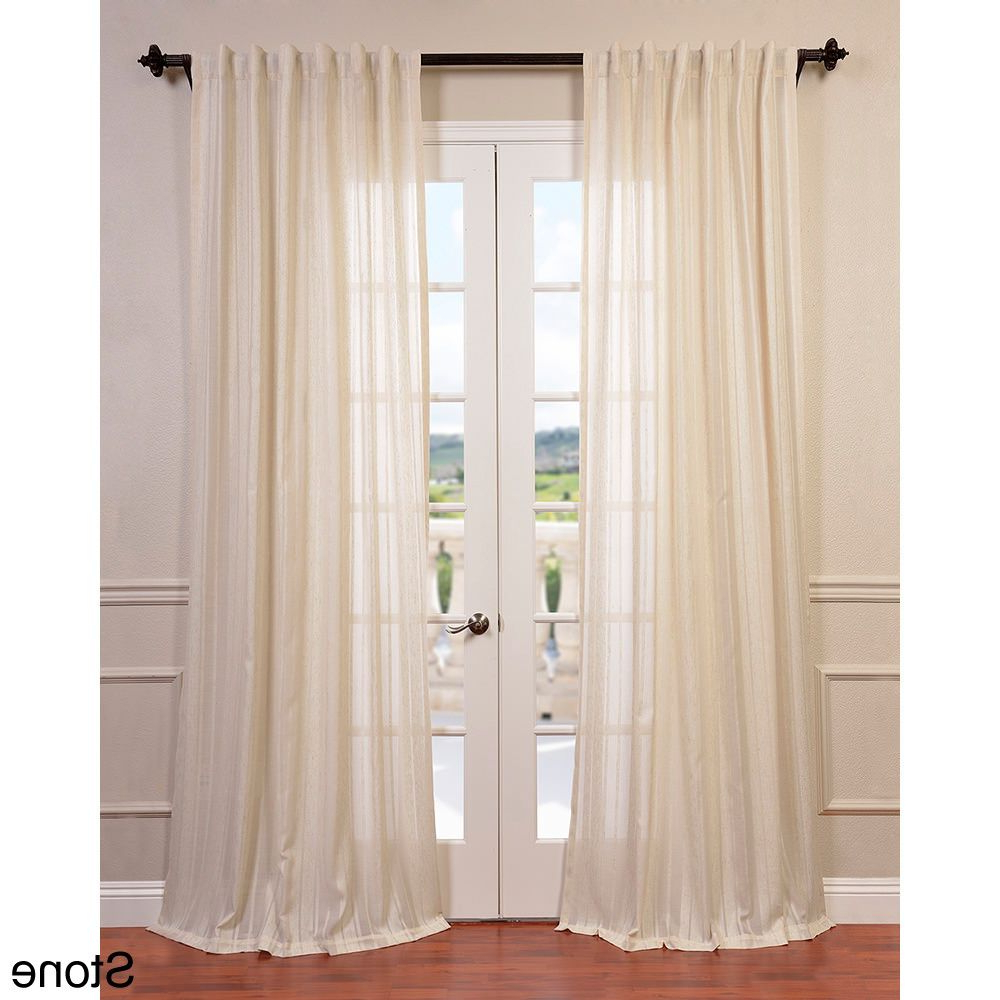 Well Liked Exclusive Fabrics Cayman Striped Linen Sheer Curtain Panel With Regard To Signature French Linen Curtain Panels (View 17 of 20)