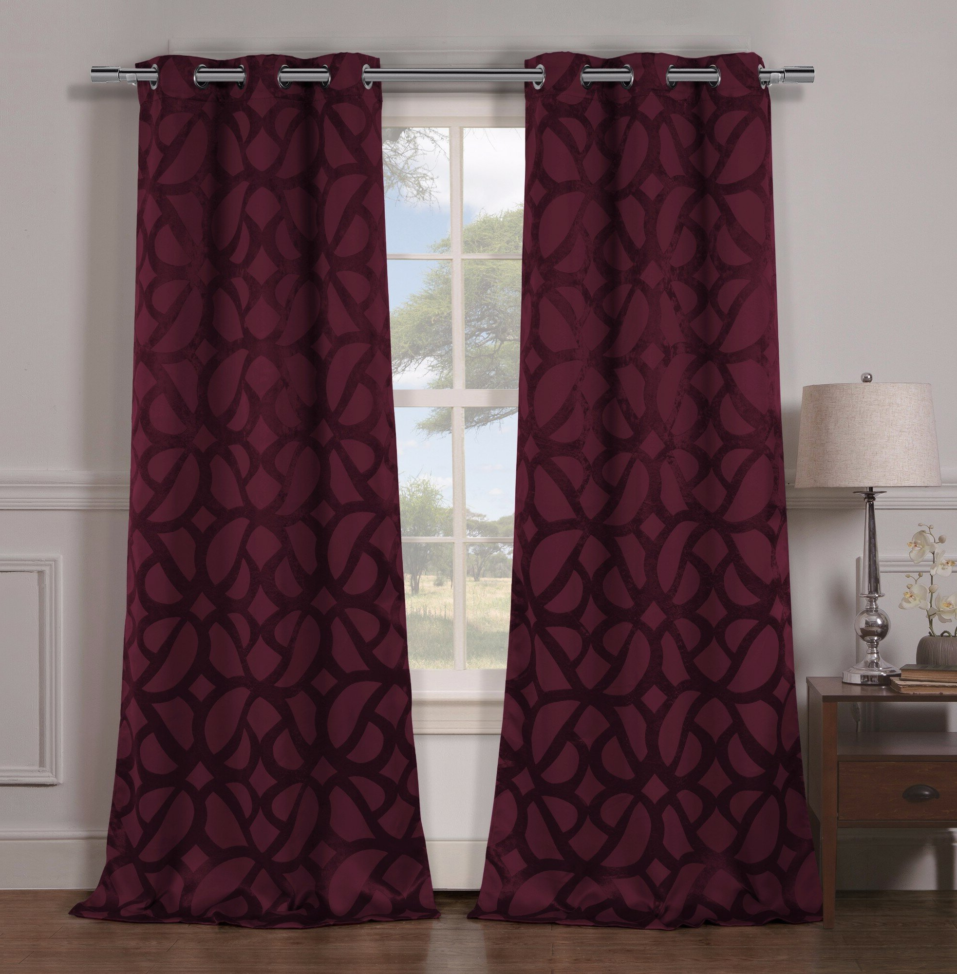 Well Liked Geometric Blackout Grommet Curtain Panels Pertaining To Overseas Faux Silk Blackout Curtain Panel Pairs (View 20 of 20)