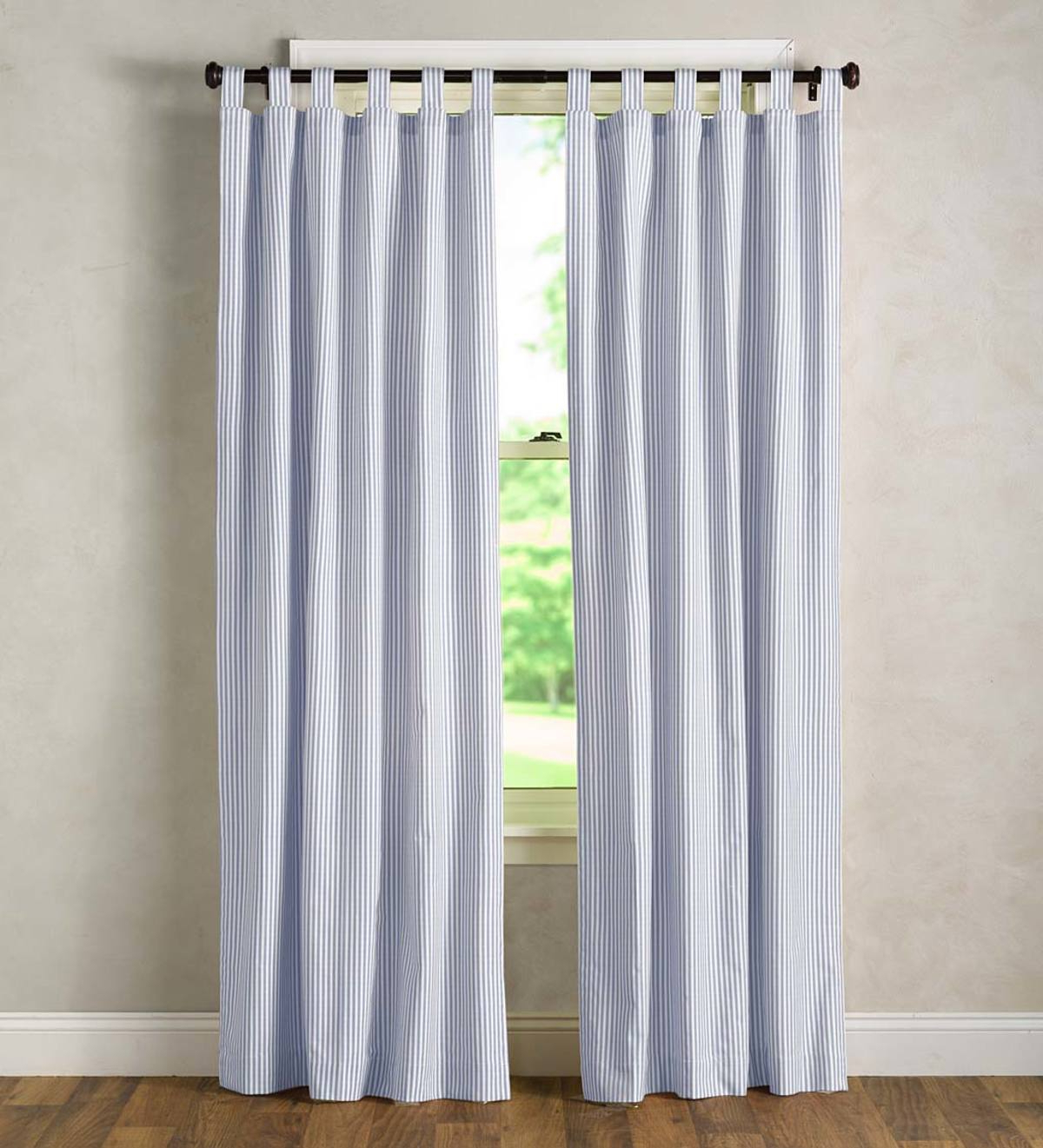 Well Liked Insulated Cotton Curtain Panel Pairs Inside Thermalogic Insulated Ticking Stripe Tab Top Curtain Pairs (View 14 of 20)
