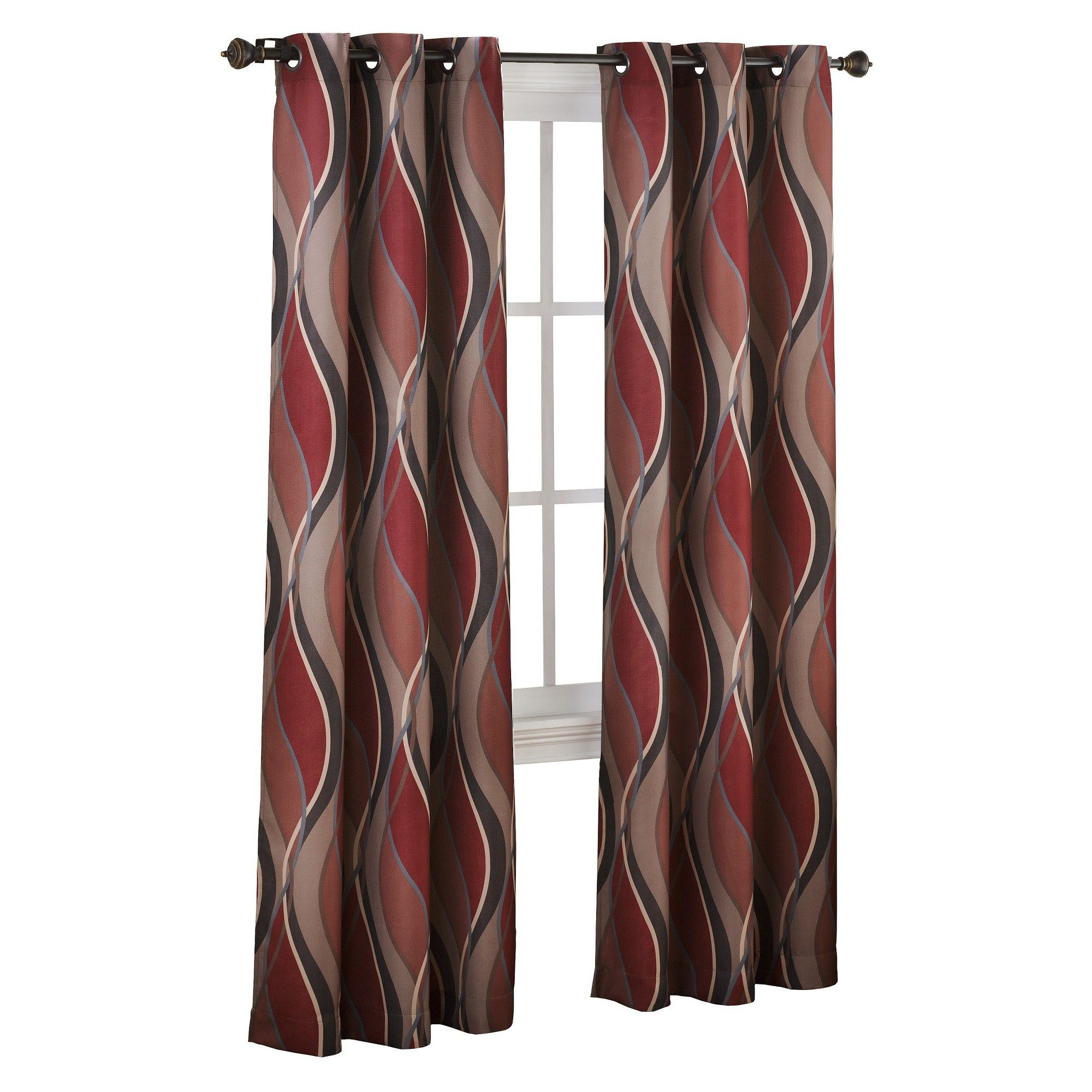 Well Liked Intersect Wave Print Casual Textured Grommet Curtain Panel With Regard To Intersect Grommet Woven Print Window Curtain Panels (View 6 of 20)