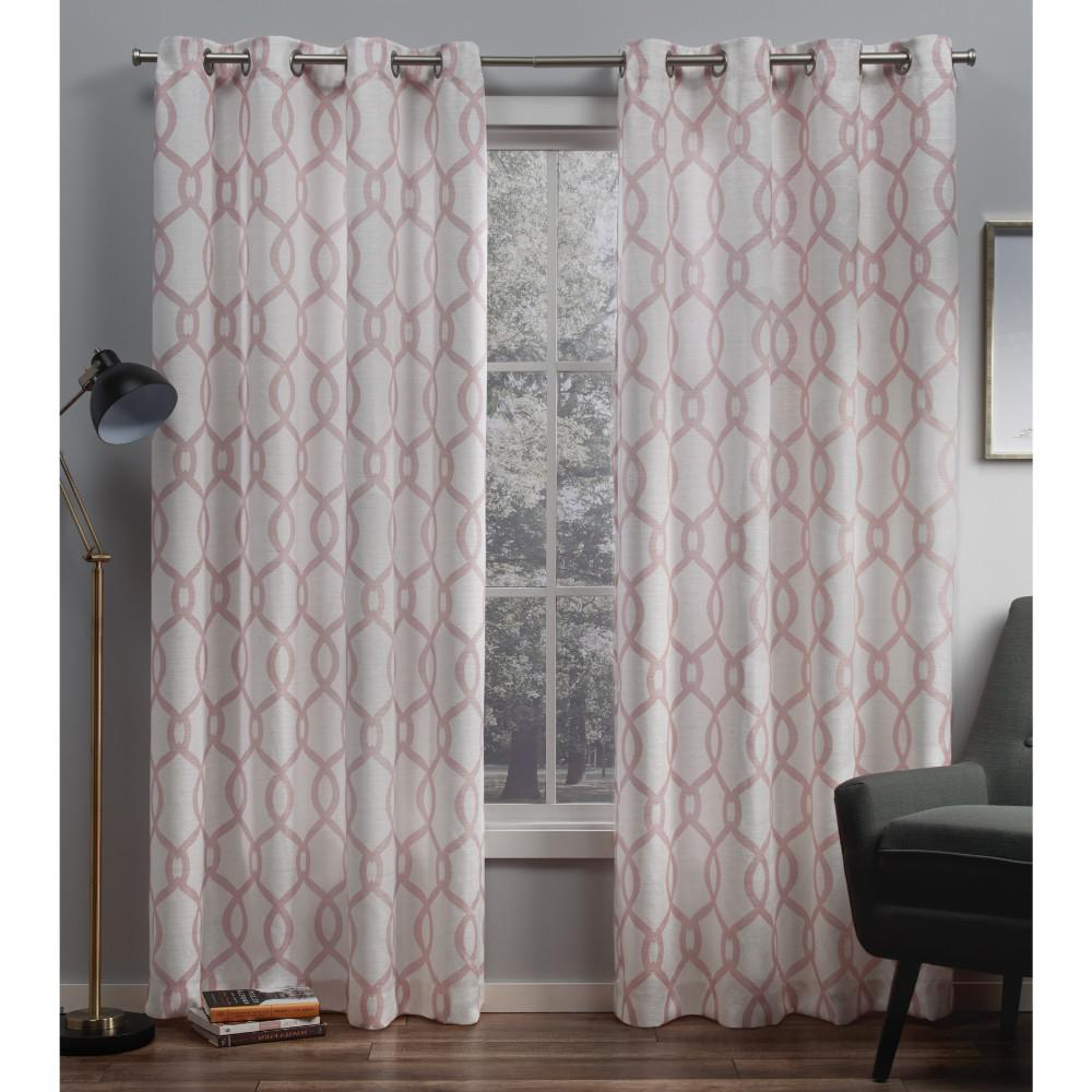 Well Liked Kochi Linen Blend Window Grommet Top Curtain Panel Pairs Within Exclusive Home Curtains Kochi Blush Grommet Top Curtain Pair (View 7 of 20)
