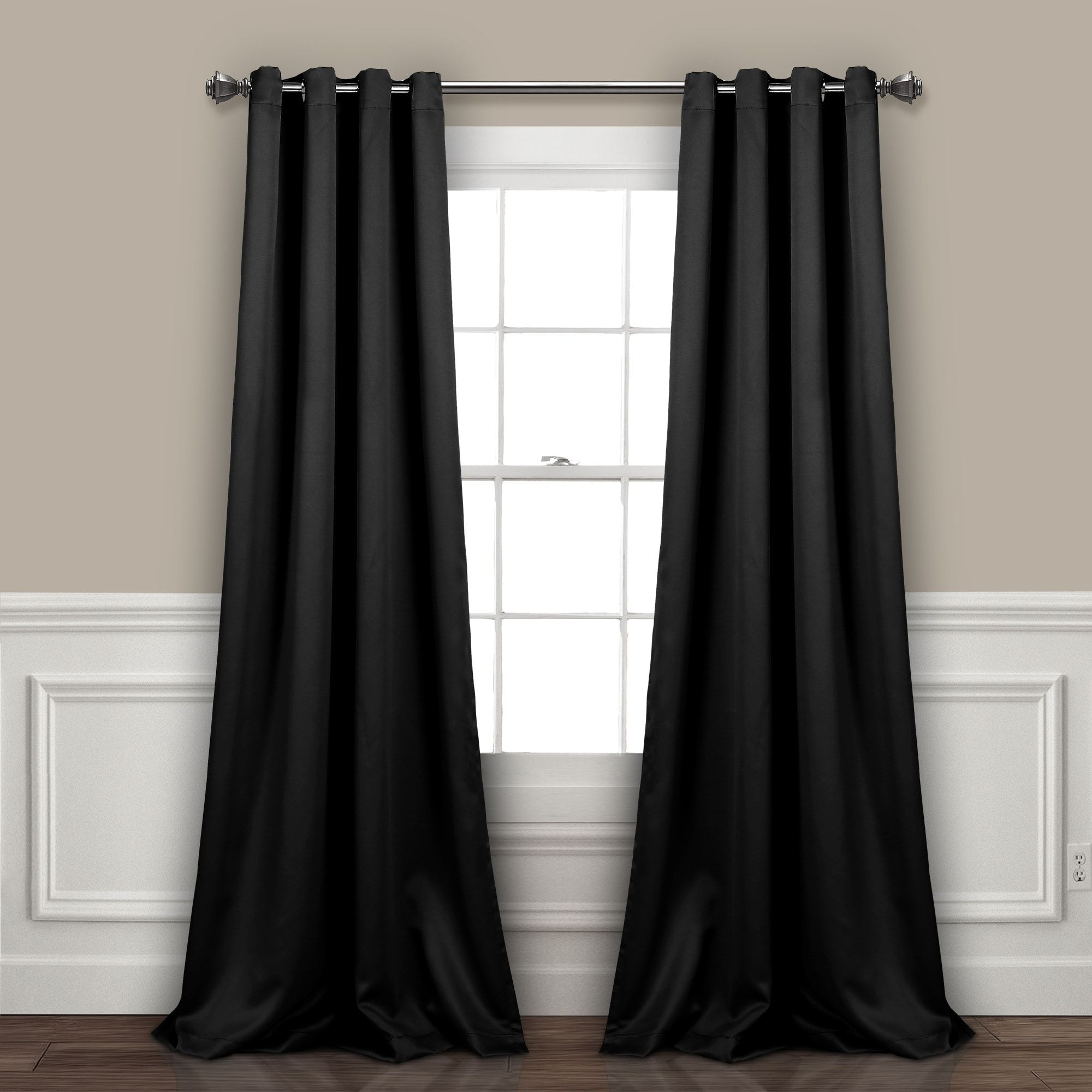 Well Liked Lush Decor Insulated Grommet Blackout Curtain Panel Pair (63 With Insulated Grommet Blackout Curtain Panel Pairs (View 19 of 20)