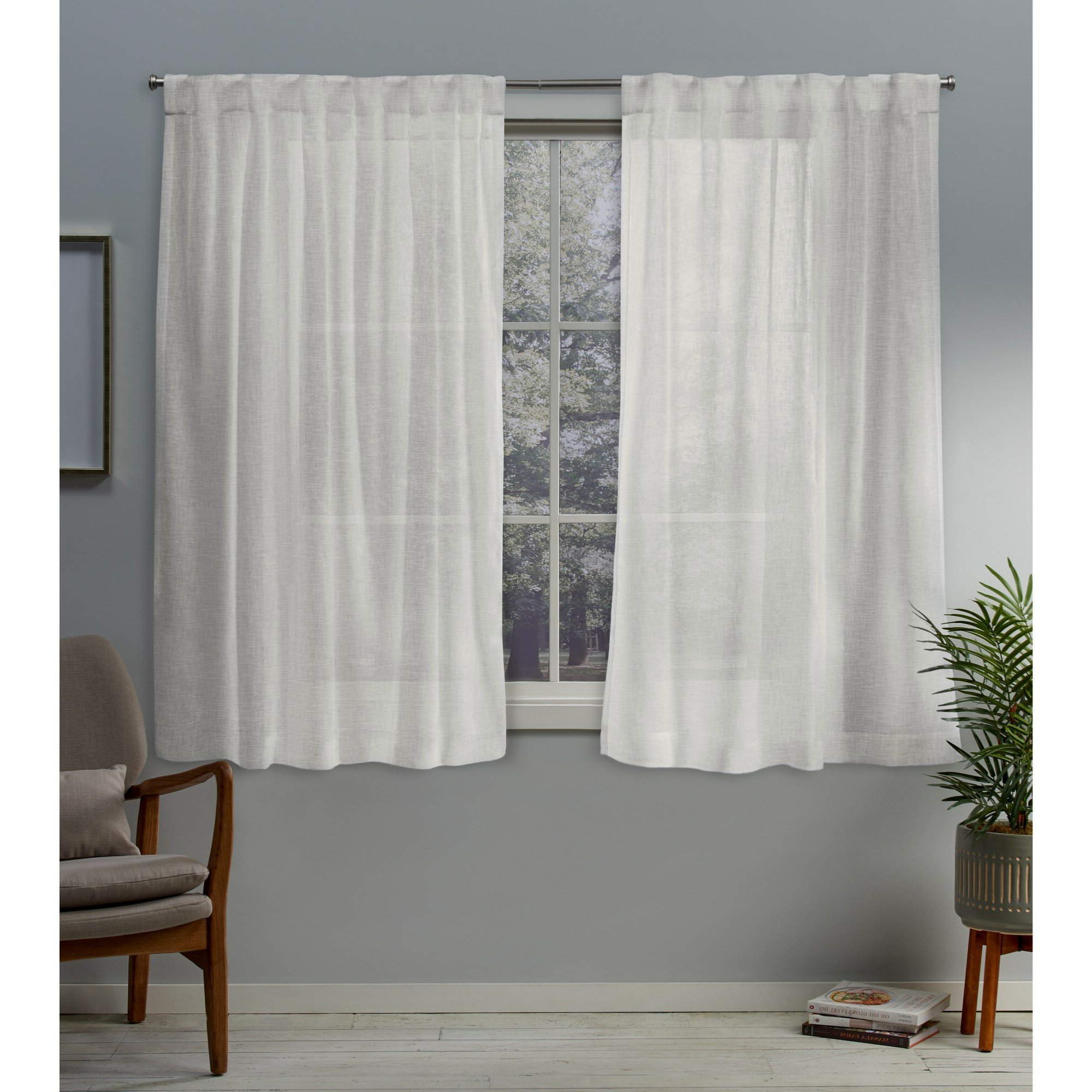 Well Liked Oakdale Textured Linen Sheer Grommet Top Curtain Panel Pairs Intended For Callanan Solid Sheer Pinch Pleat Panel Pair (View 20 of 20)