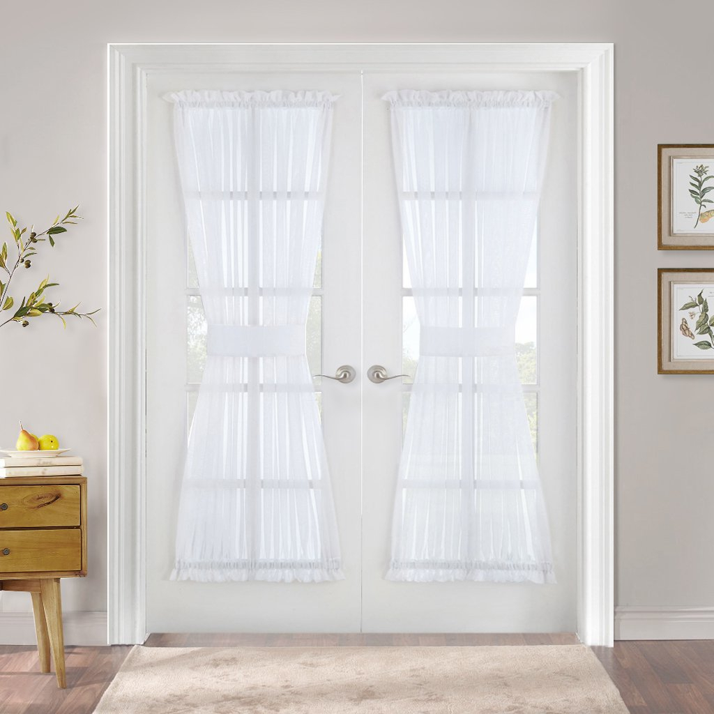 Well Liked Pony Dance Sheer Door Curtain – French Door Panel Voile Drapes Dual Rod Pocket For Metal Glass Patio Door Light Filter Privacy Protect With Tieback, Throughout Emily Sheer Voile Solid Single Patio Door Curtain Panels (View 12 of 20)