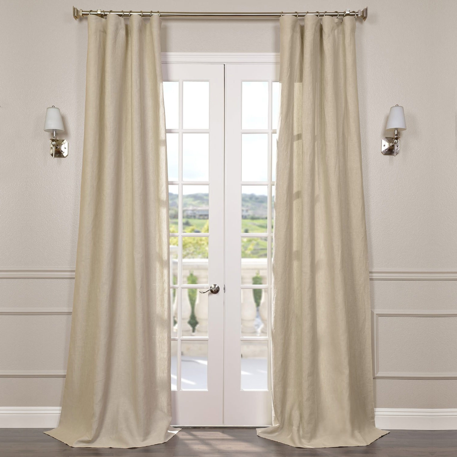 Well Liked Signature French Linen Curtain Panels Throughout Half Price Drapes Shlnch Gb1001032 108 Signature French Linen Sheer Curtain, Antique Lace (View 9 of 20)
