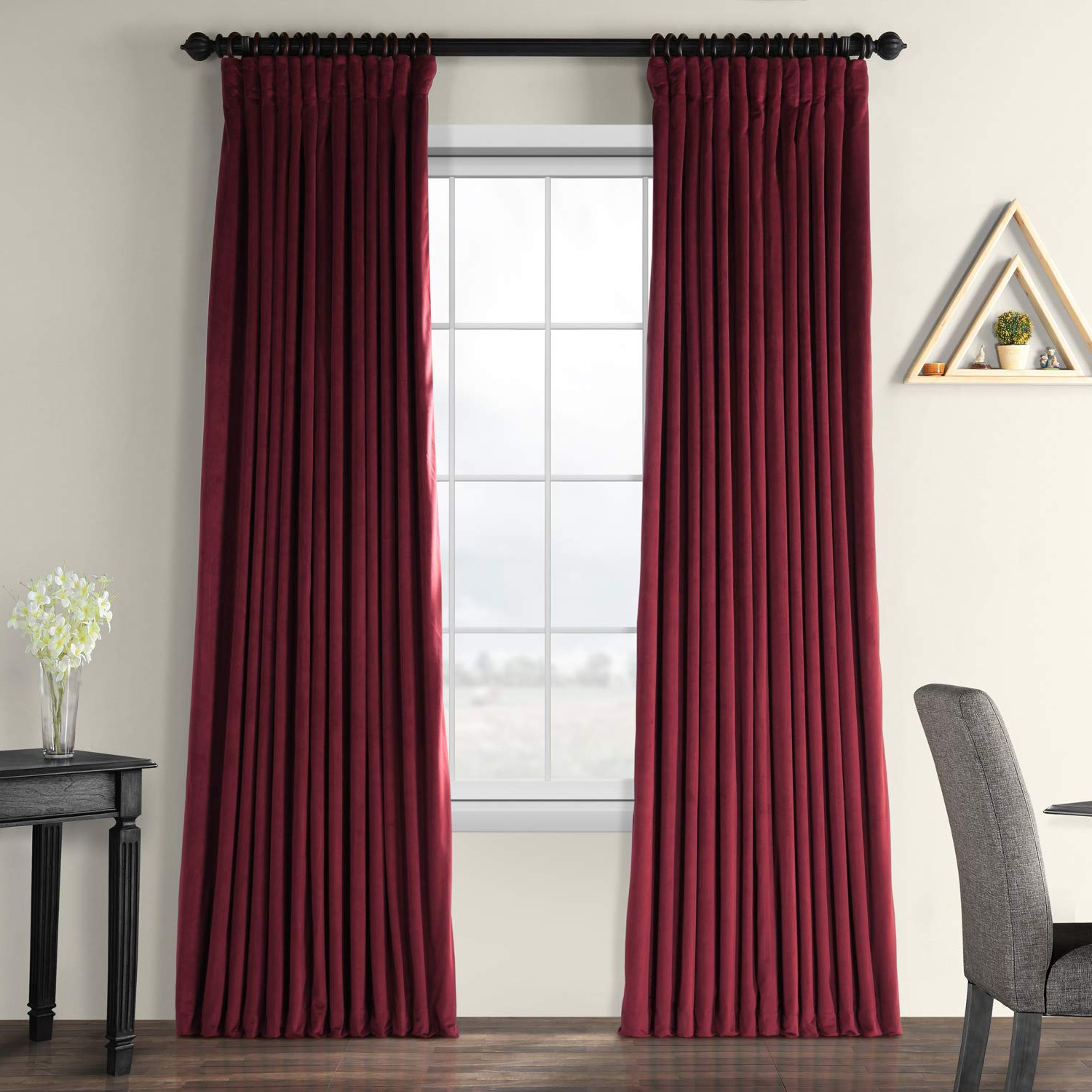 Well Liked Signature Ivory Velvet Blackout Single Curtain Panels For Half Price Drapes Vpch Vet1216 108 Signature Doublewide Blackout Velvet Curtain, Burgundy, 100 X (View 11 of 20)
