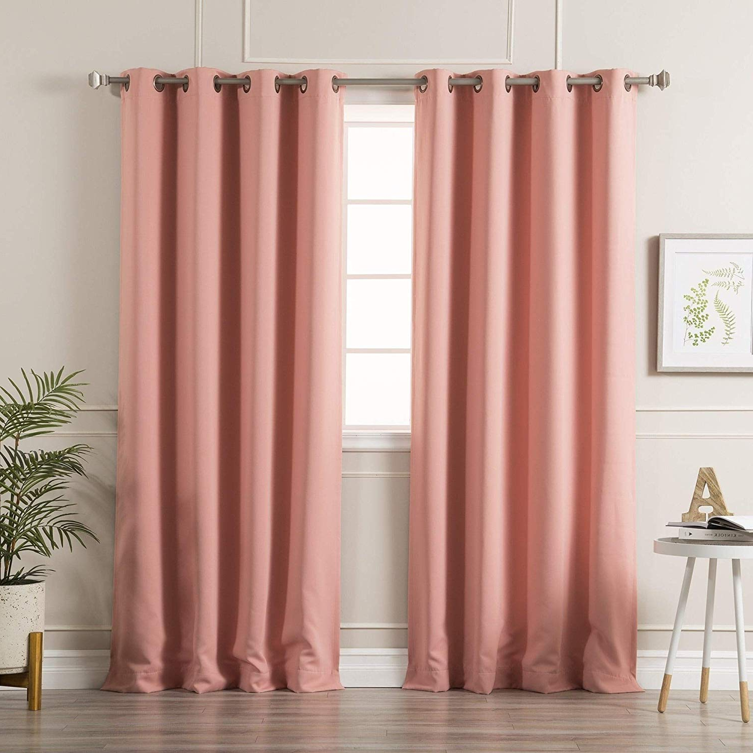 Well Liked Thermal Insulated Blackout Grommet Top Curtain Panel Pairs Throughout Amazon: Aurora Home Thermal Insulated Blackout Grommet (View 19 of 20)