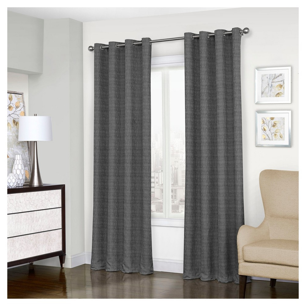 "Well Liked Trevi Thermalined Curtain Panel Black (52""x63"") – Eclipse Regarding Eclipse Trevi Blackout Grommet Window Curtain Panels (View 5 of 20)"
