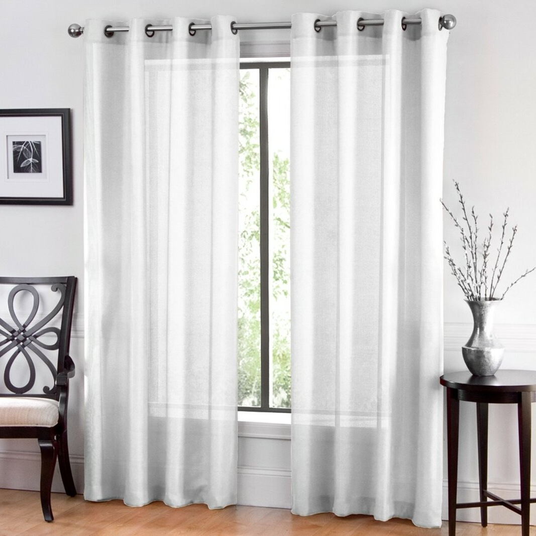 Well Liked Window Sheet Solid Sheer Grommet Curtain Panels Pertaining To Luxury Collection Venetian Sheer Curtain Panel Pairs (View 11 of 20)