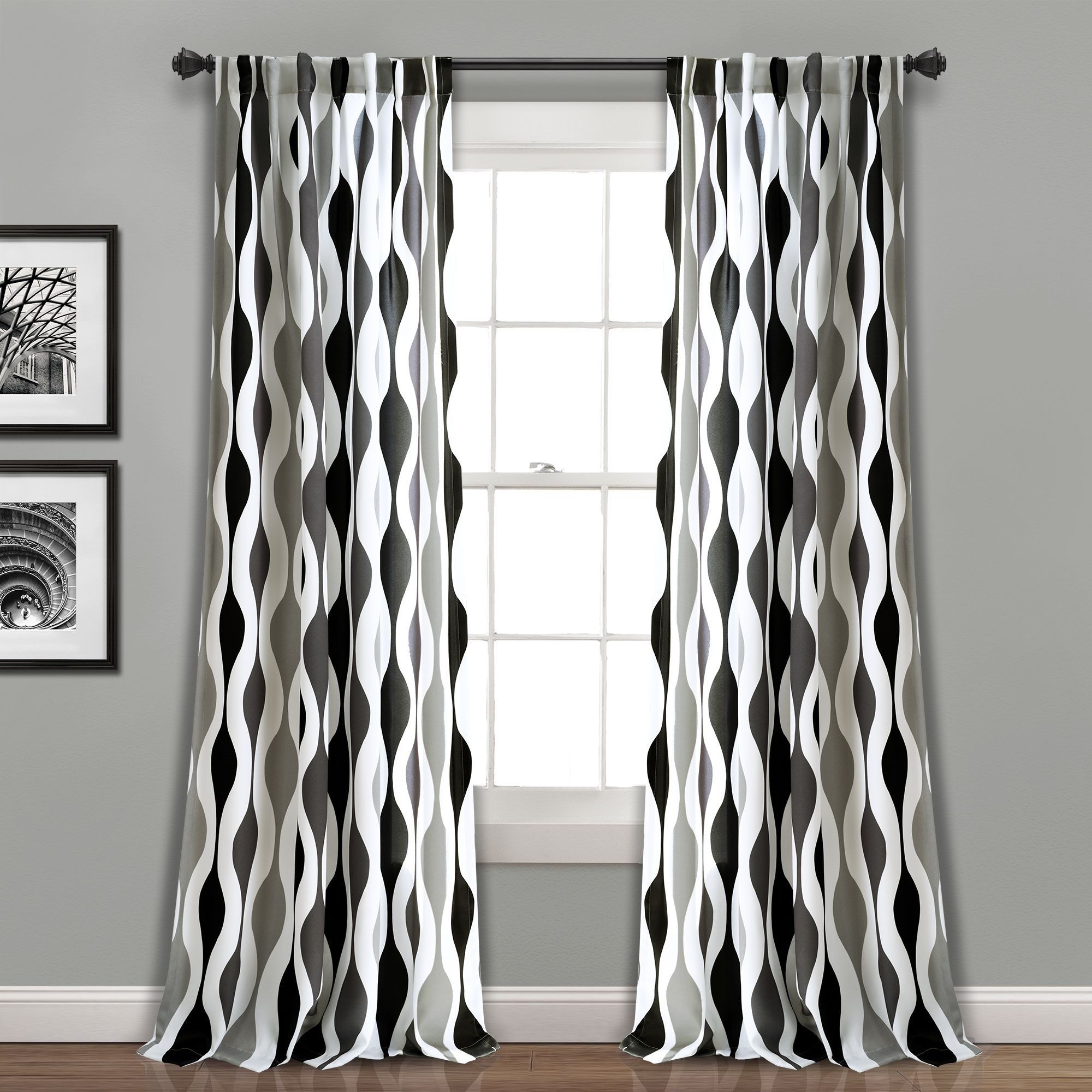 What's The Difference Between Room Darkening And Blackout With Regard To Well Known Kaiden Geometric Room Darkening Window Curtains (View 6 of 20)