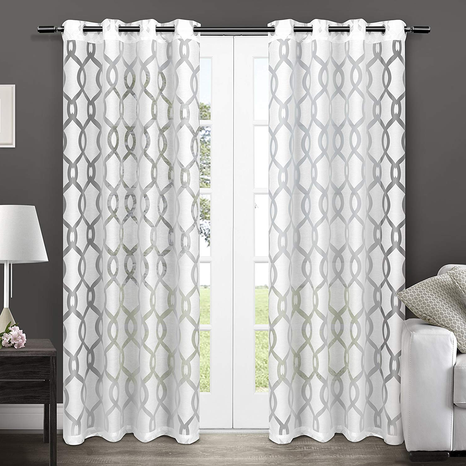 White Linen Curtain Panels – Recipes With More For Most Popular Penny Sheer Grommet Top Curtain Panel Pairs (View 7 of 20)