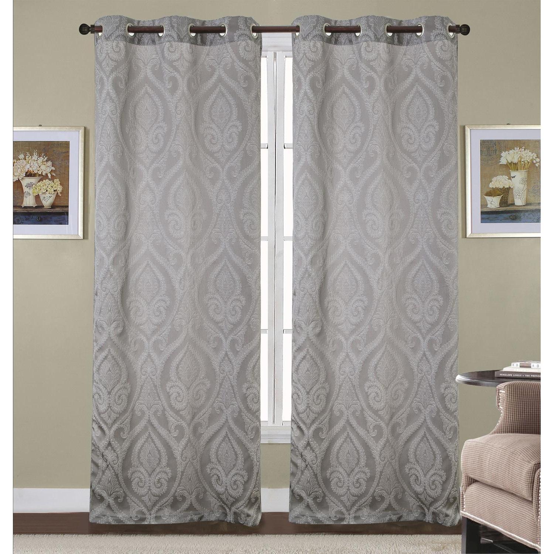 Whitman Jacquard Grommet Curtain Panel Pair (2) 37 X 84 Throughout Famous Whitman Curtain Panel Pairs (View 11 of 20)