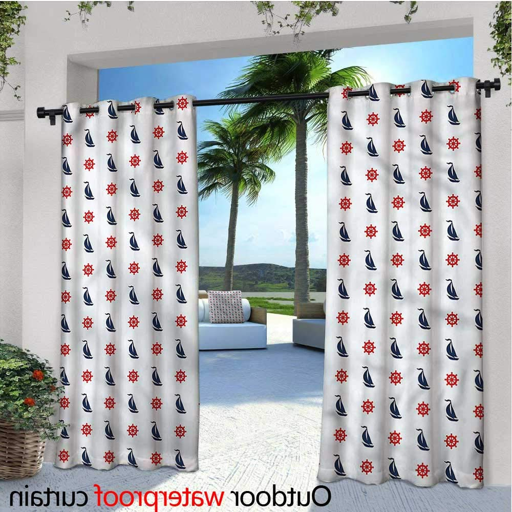 Widely Used Amazon : Nautical Indoor/outdoor Single Panel Print Pertaining To Matine Indoor/outdoor Curtain Panels (View 15 of 20)