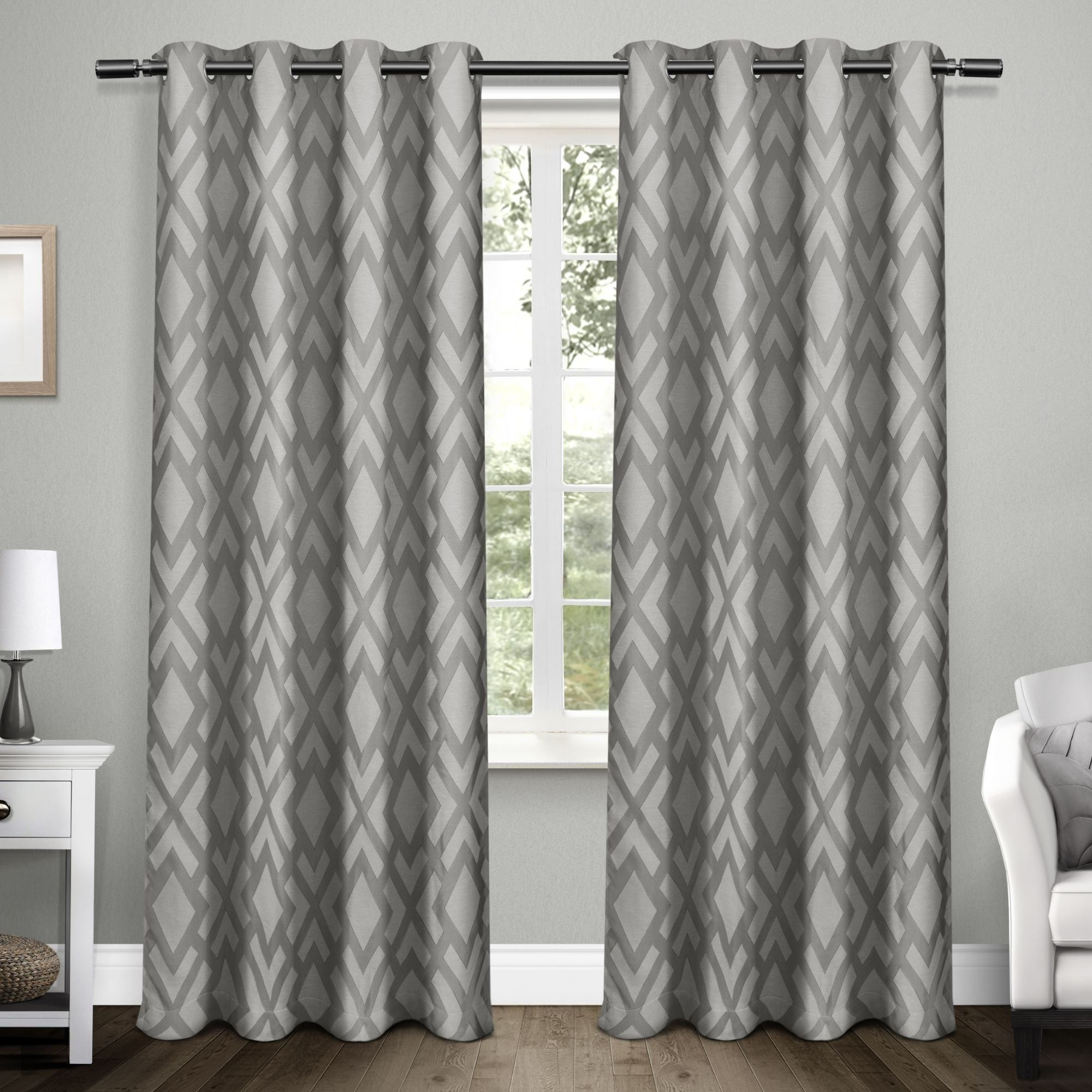 Featured Photo of Easton Thermal Woven Blackout Grommet Top Curtain Panel Pairs
