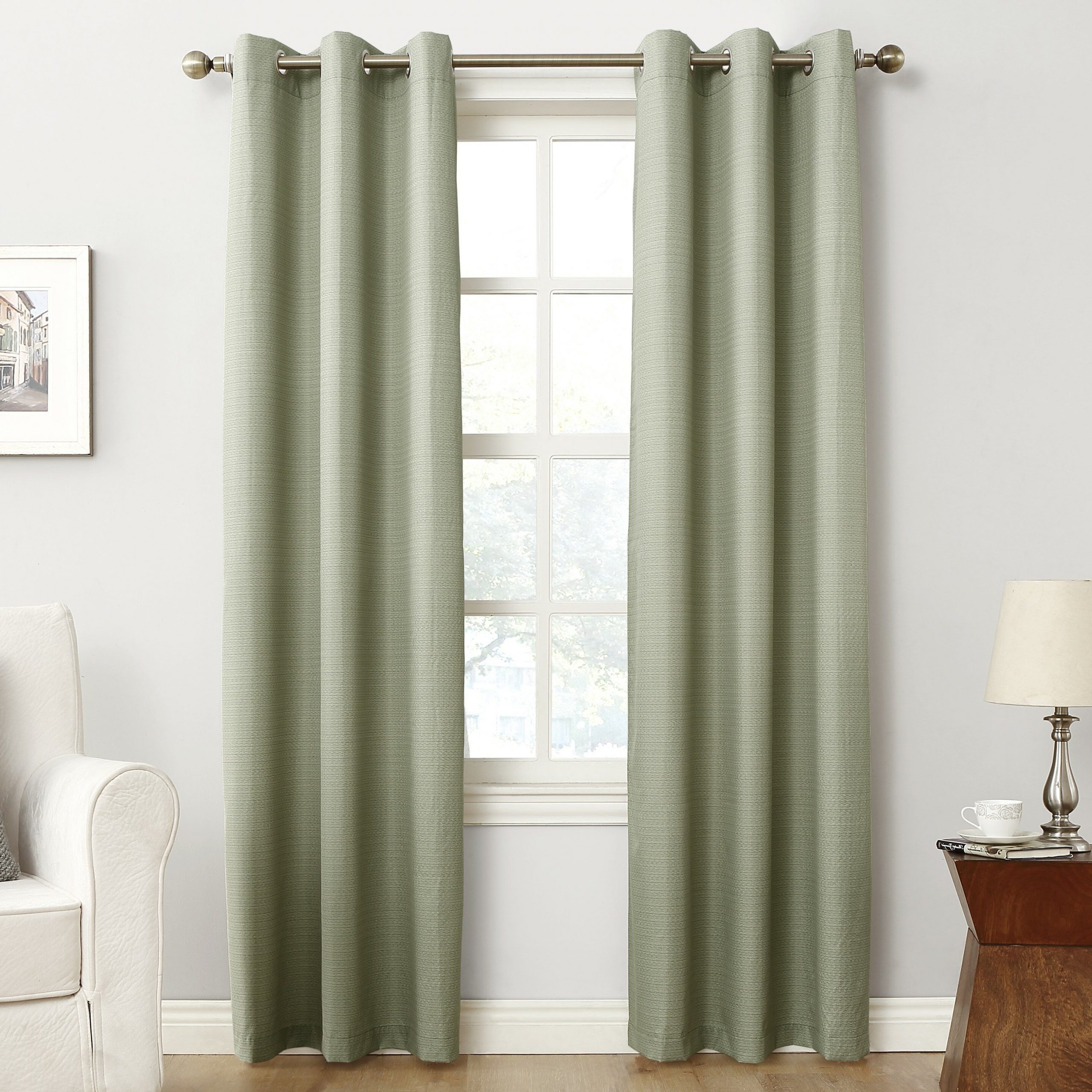 Widely Used Cooper Textured Solid Blackout Thermal Grommet Single Curtain Panel Throughout Cooper Textured Thermal Insulated Grommet Curtain Panels (View 20 of 20)