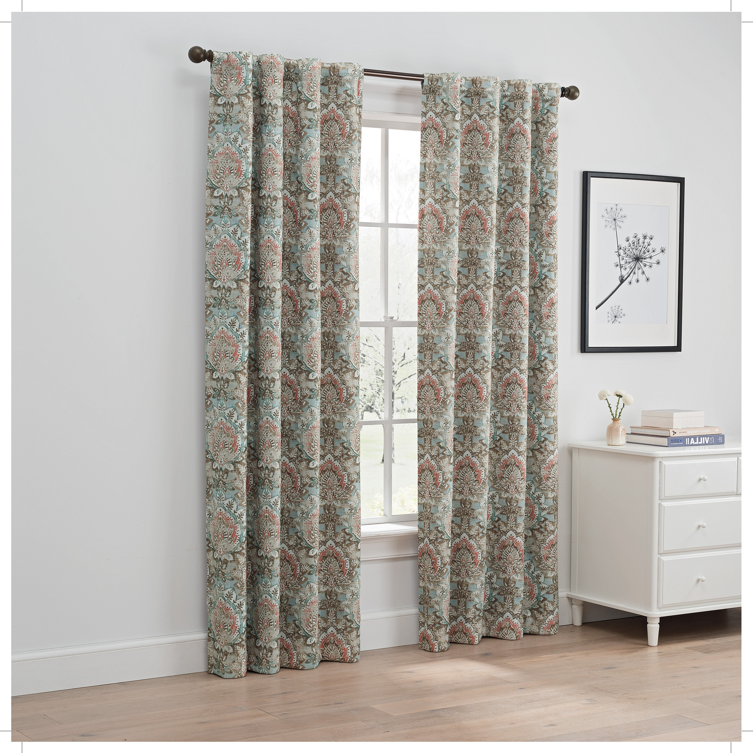 Widely Used Davis Patio Grommet Top Single Curtain Panels Inside Eclipse Ames Thermalayer Blackout Window Curtain Panel (View 20 of 20)