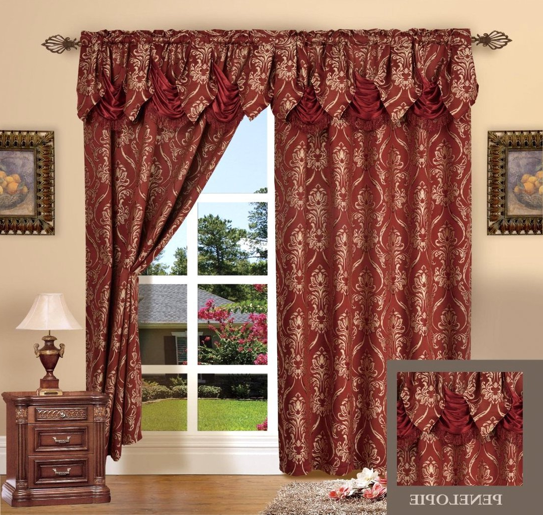 Widely Used Elegant Comfort Window Sheer Curtain Panel Pairs For Burgundy Bedding Curtains – Recipes With More (View 19 of 20)