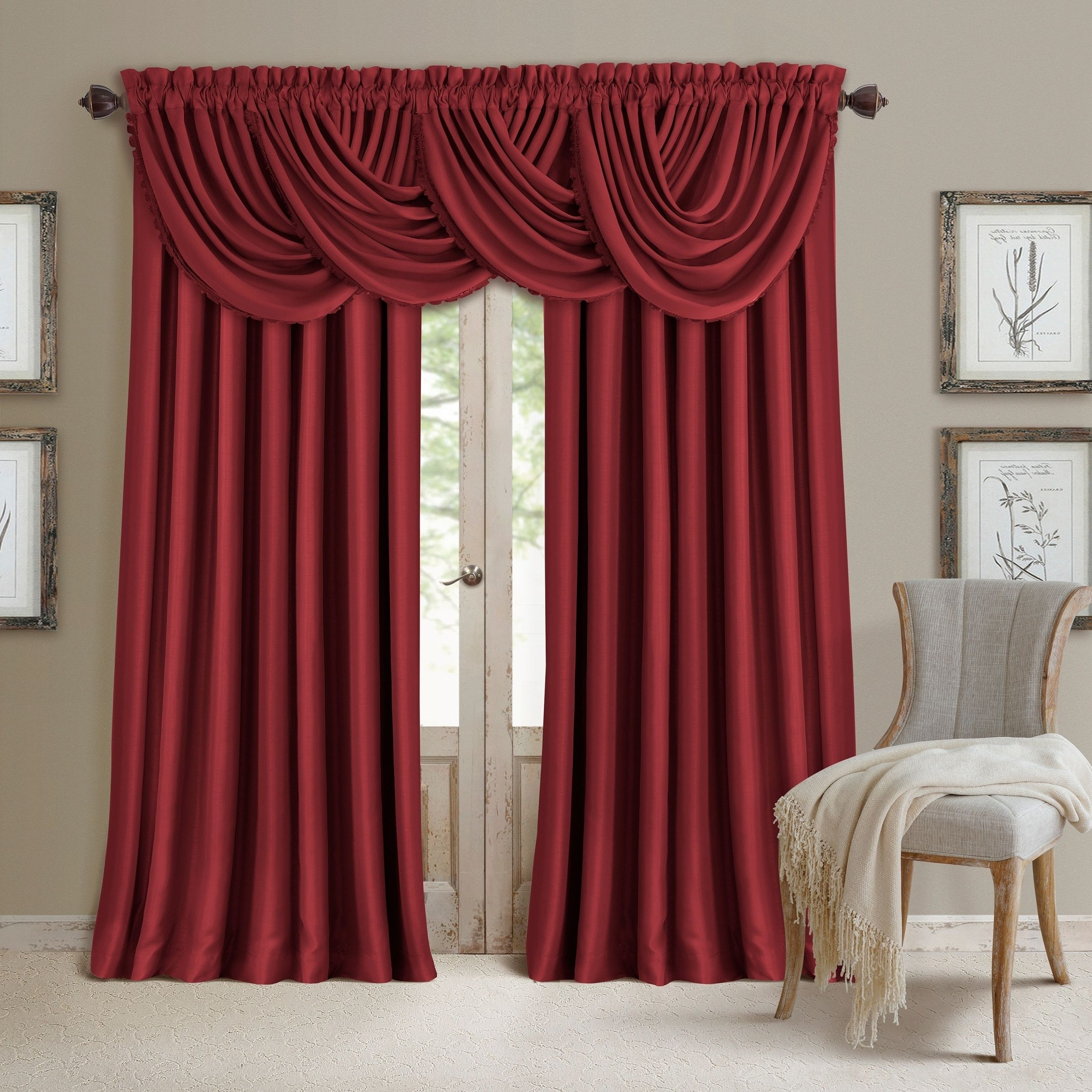 """Widely Used Elrene All Seasons Blackout Curtain Panel (52""""x84"""" – Rouge With Regard To Elrene Mia Jacquard Blackout Curtain Panels (View 20 of 20)"""