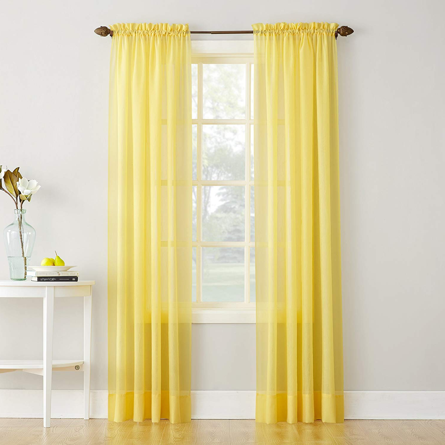 Widely Used Erica Sheer Crushed Voile Single Curtain Panels Intended For No (View 7 of 20)
