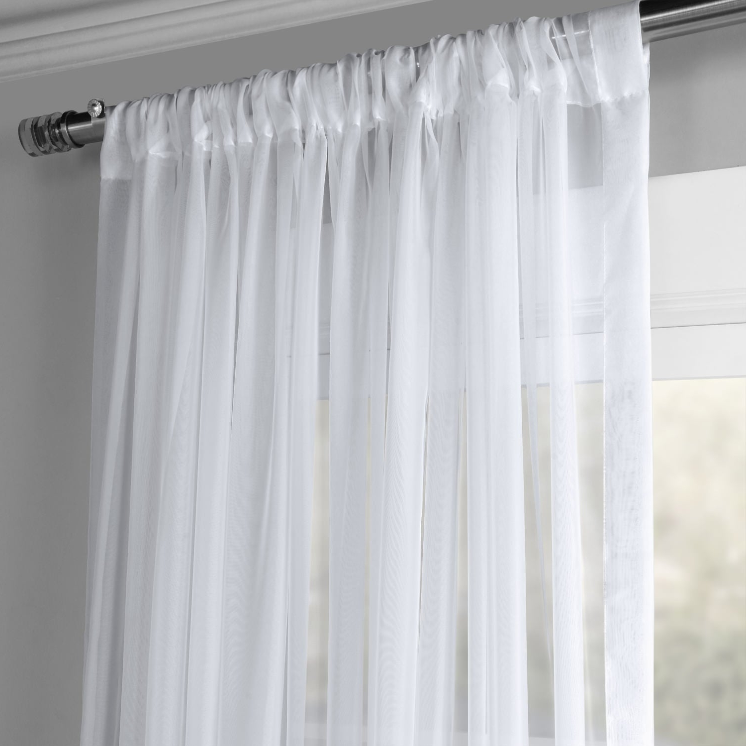 Widely Used Exclusive Fabrics Extra Wide White Voile Sheer Curtain Panel In Extra Wide White Voile Sheer Curtain Panels (View 3 of 20)