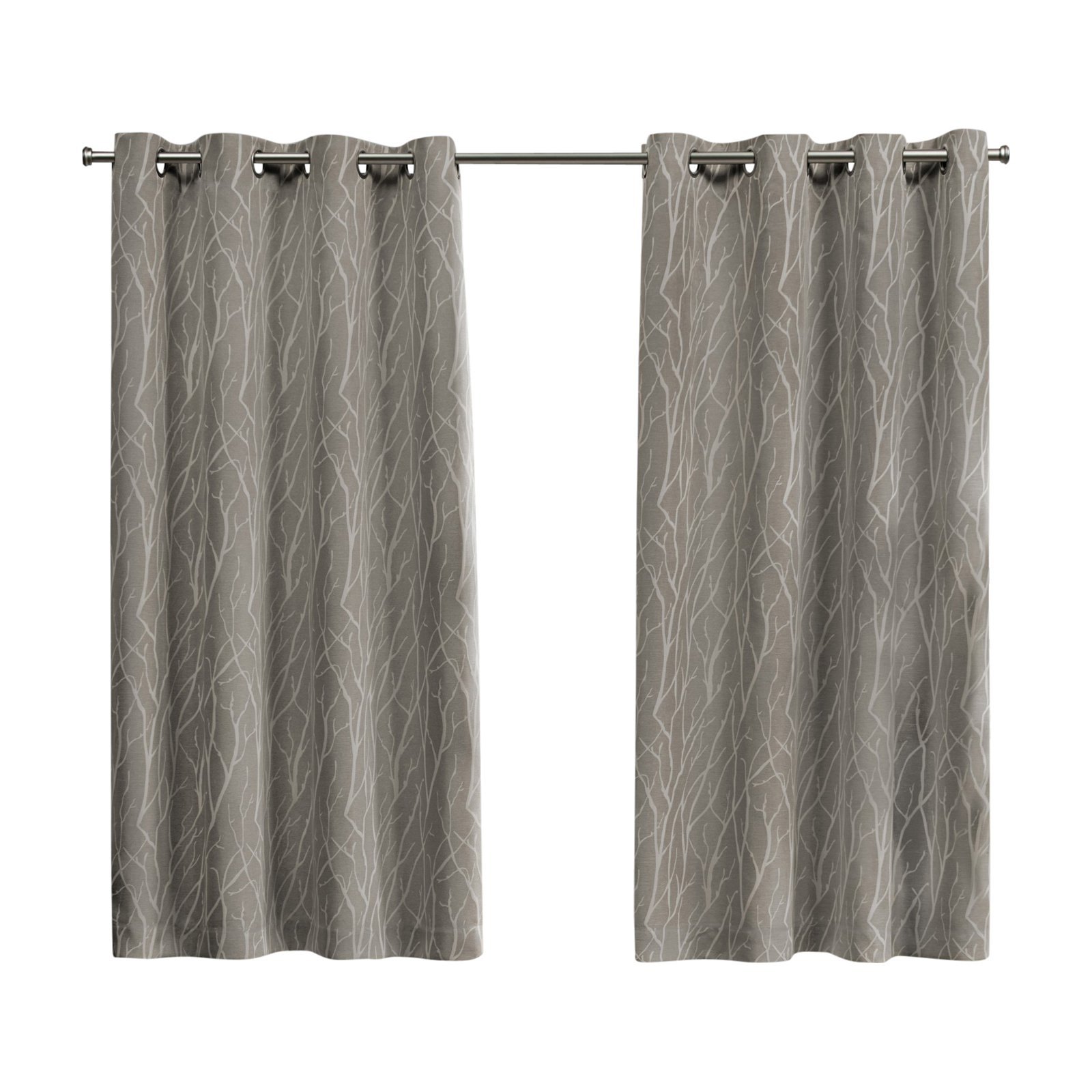 Widely Used Forest Hill Woven Blackout Grommet Top Curtain Panel Pairs Inside Exclusive Home Forest Hill Blackout Grommet Curtain Panel (View 10 of 20)
