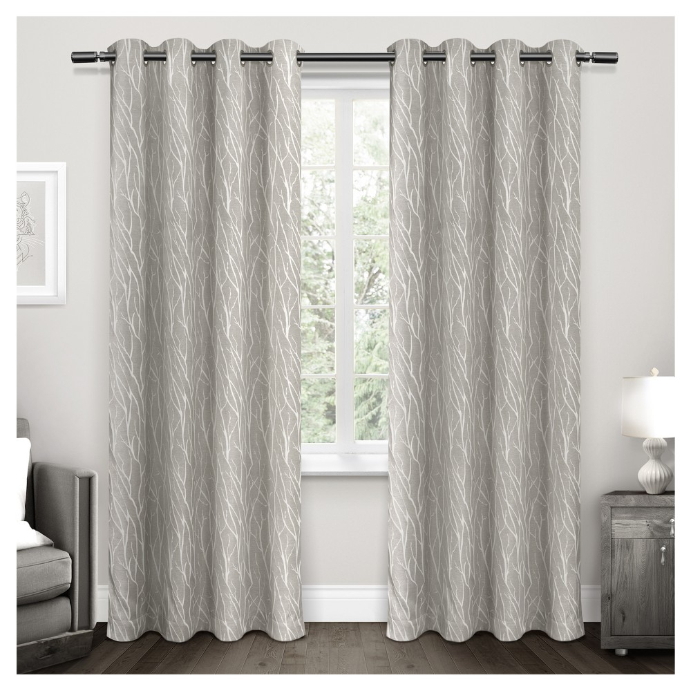 Widely Used Forest Hill Woven Room Darkening Grommet Top Window Curtain Within Forest Hill Woven Blackout Grommet Top Curtain Panel Pairs (View 8 of 20)