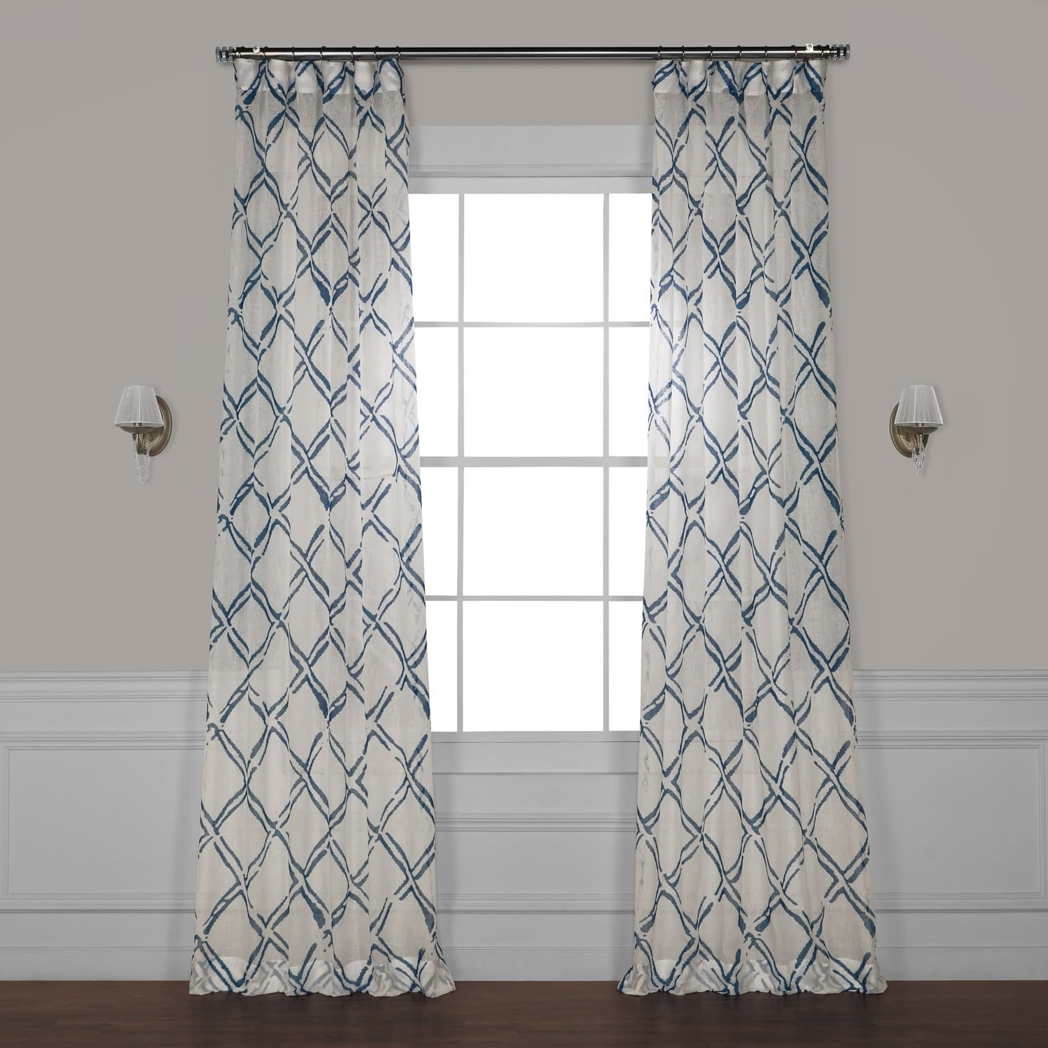 Widely Used Grey Printed Curtain Panels Within Exclusive Fabrics Normandy Grey Printed Sheer Curtain Panel (View 17 of 20)