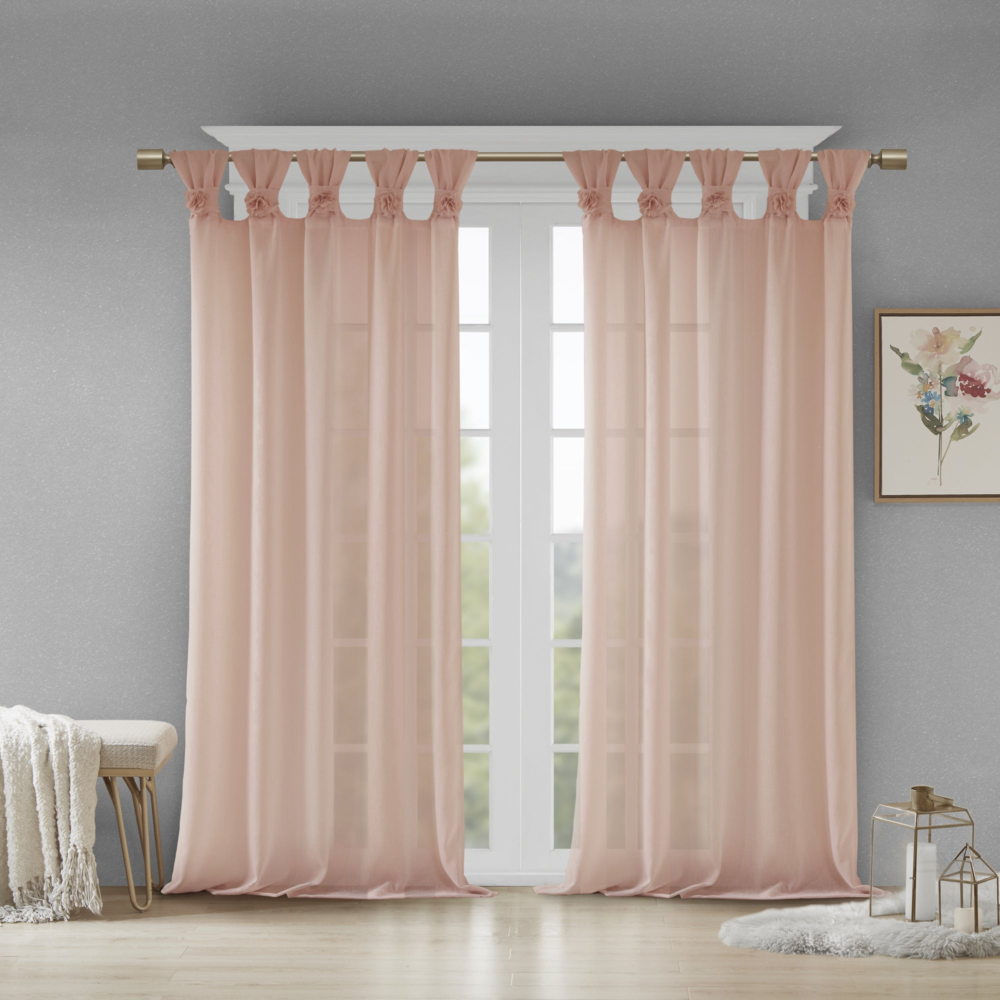 Widely Used Madison Park Florah Tab Top Sheer Single Curtain Panel Regarding Tab Top Sheer Single Curtain Panels (View 2 of 20)