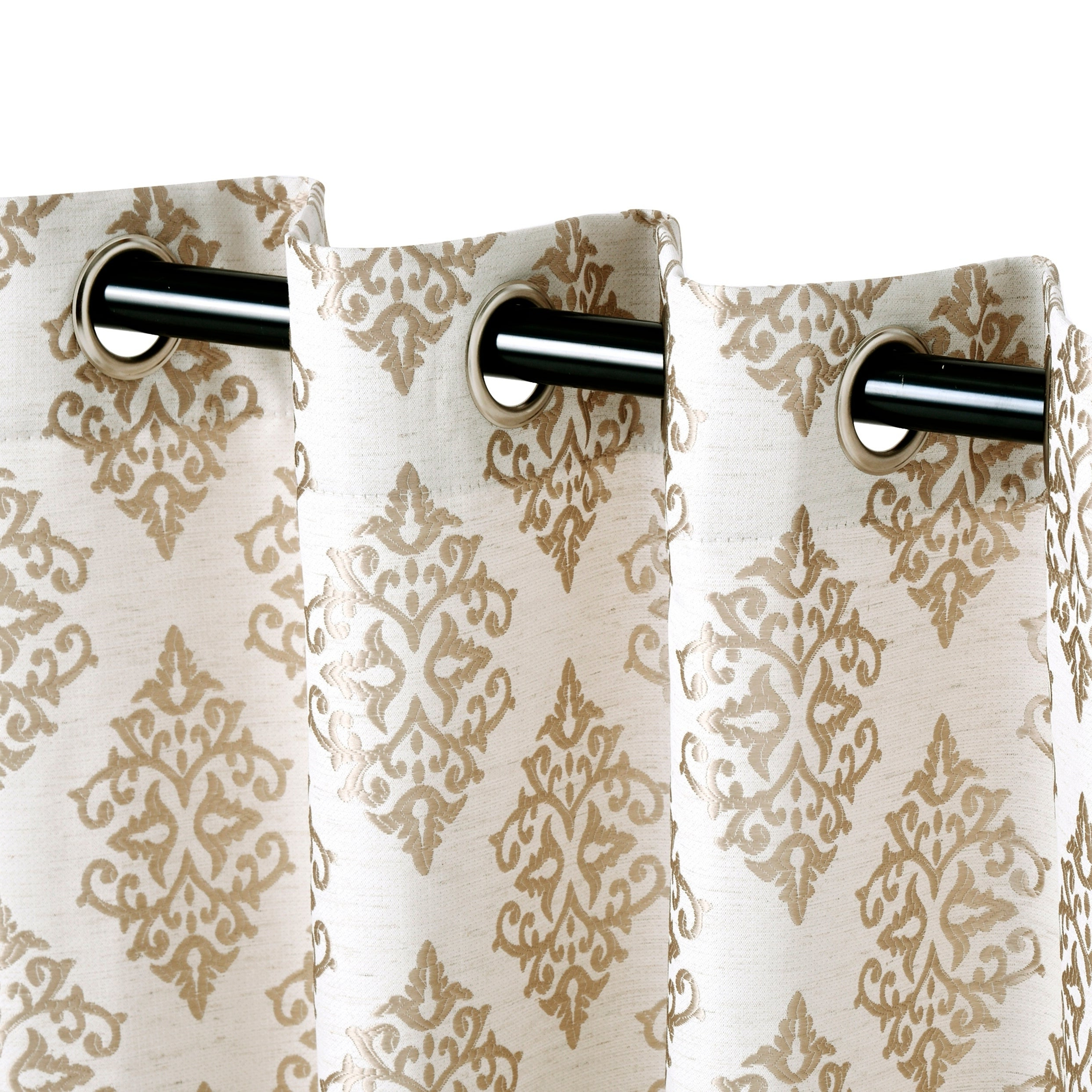 Widely Used Miranda Haus Labrea Damask Jacquard Grommet Curtain Panels In Miranda Haus Labrea Damask Jacquard Grommet Curtain Panel (set Of 2) (View 3 of 20)