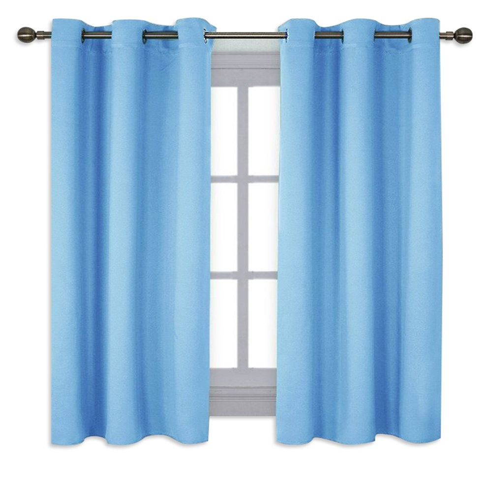 Widely Used Nicetown Home Fashion Thermal Insulated Solid Grommet Blackout Curtain Panels For Bedroom (1 Pair,42 Inches Wide63 Inches Long,blue) Throughout Solid Insulated Thermal Blackout Long Length Curtain Panel Pairs (View 12 of 20)