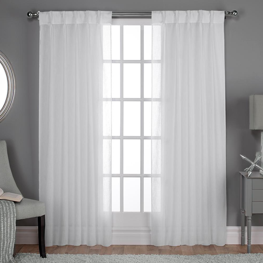 Widely Used Penny Sheer Grommet Top Curtain Panel Pairs Inside Belgian 30 In. W X 84 In (View 10 of 20)