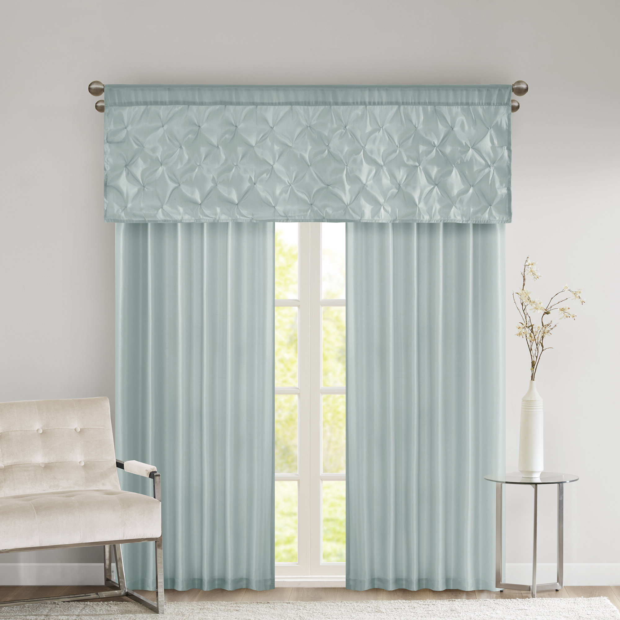 Widely Used Petrucci Solid Room Darkening Rod Pocket Curtain Panels Throughout Luxury Collection Venetian Sheer Curtain Panel Pairs (View 20 of 20)