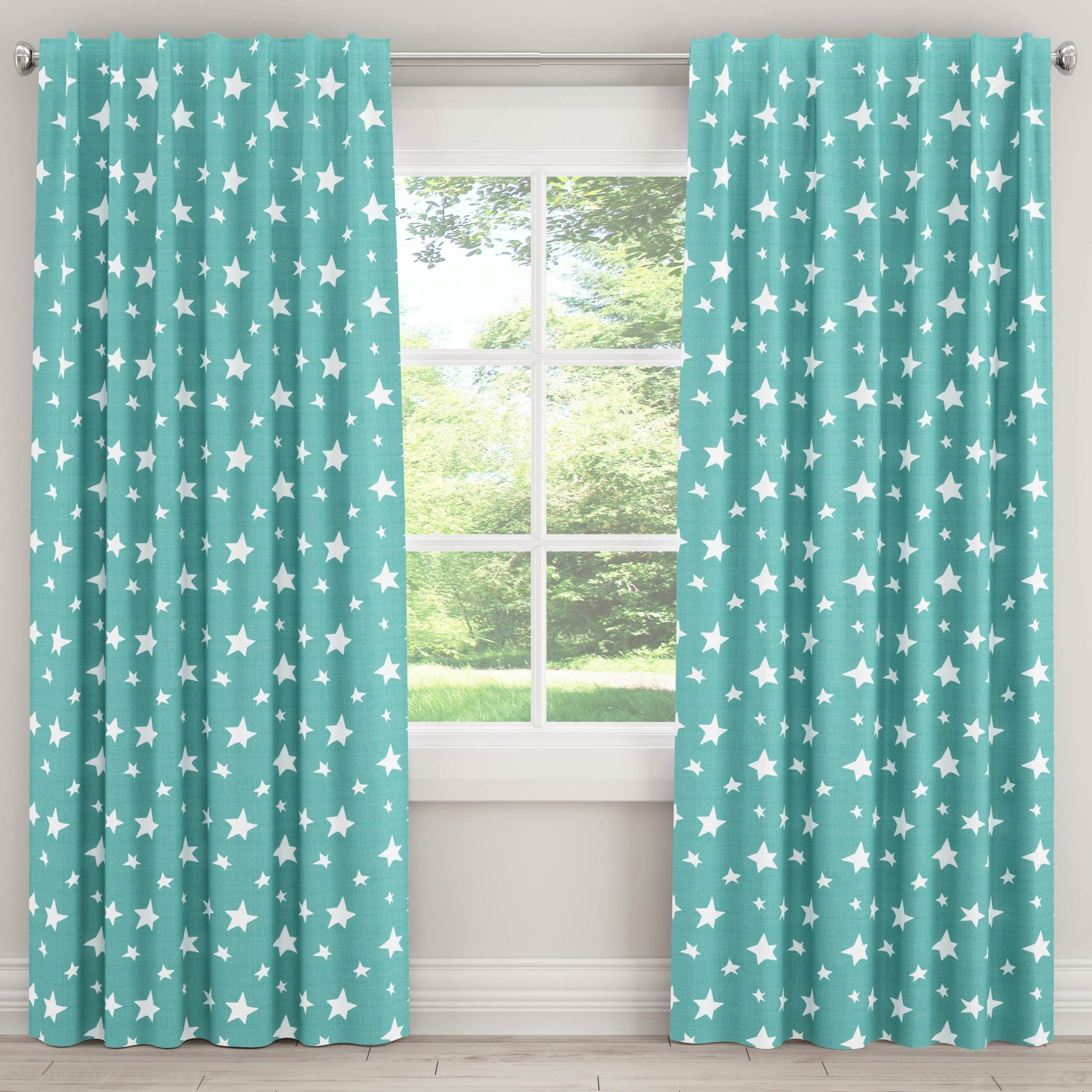 Widely Used Skyline Furniture Unlined Curtains In Stars (yellow – 63 With Grainger Buffalo Check Blackout Window Curtains (View 13 of 20)