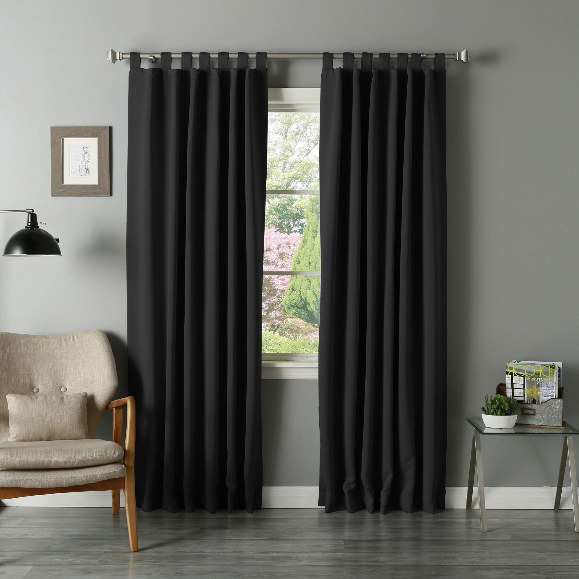 Widely Used Solid Thermal Insulated Blackout Curtain Panel Pairs Intended For Aurora Home Tab Top Thermal Insulated 95 Inch Blackout (View 6 of 20)