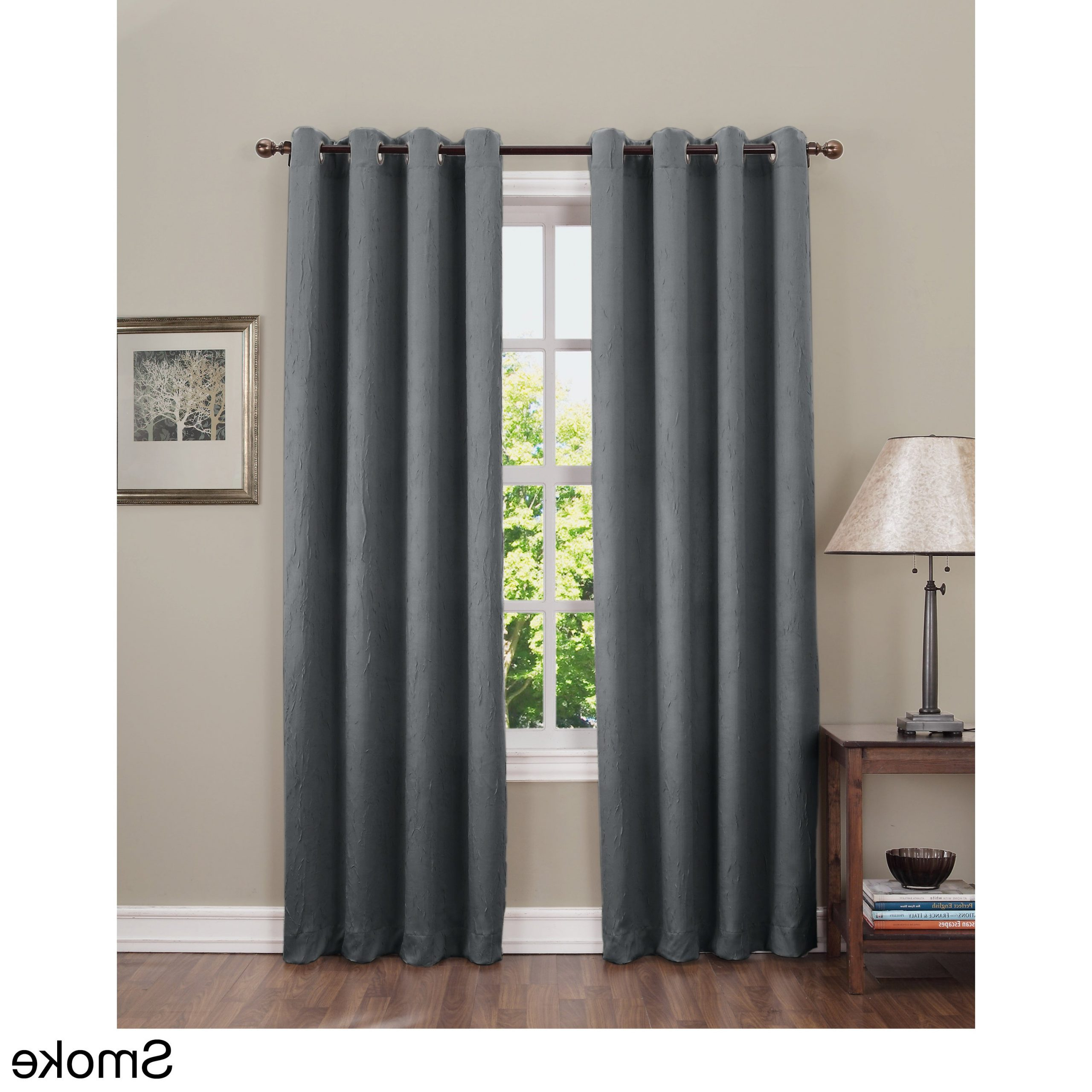 Widely Used Sun Zero Hanson Crushed Grommet Room Darkening Single Curtain Panel Within Hayden Grommet Blackout Single Curtain Panels (View 7 of 20)
