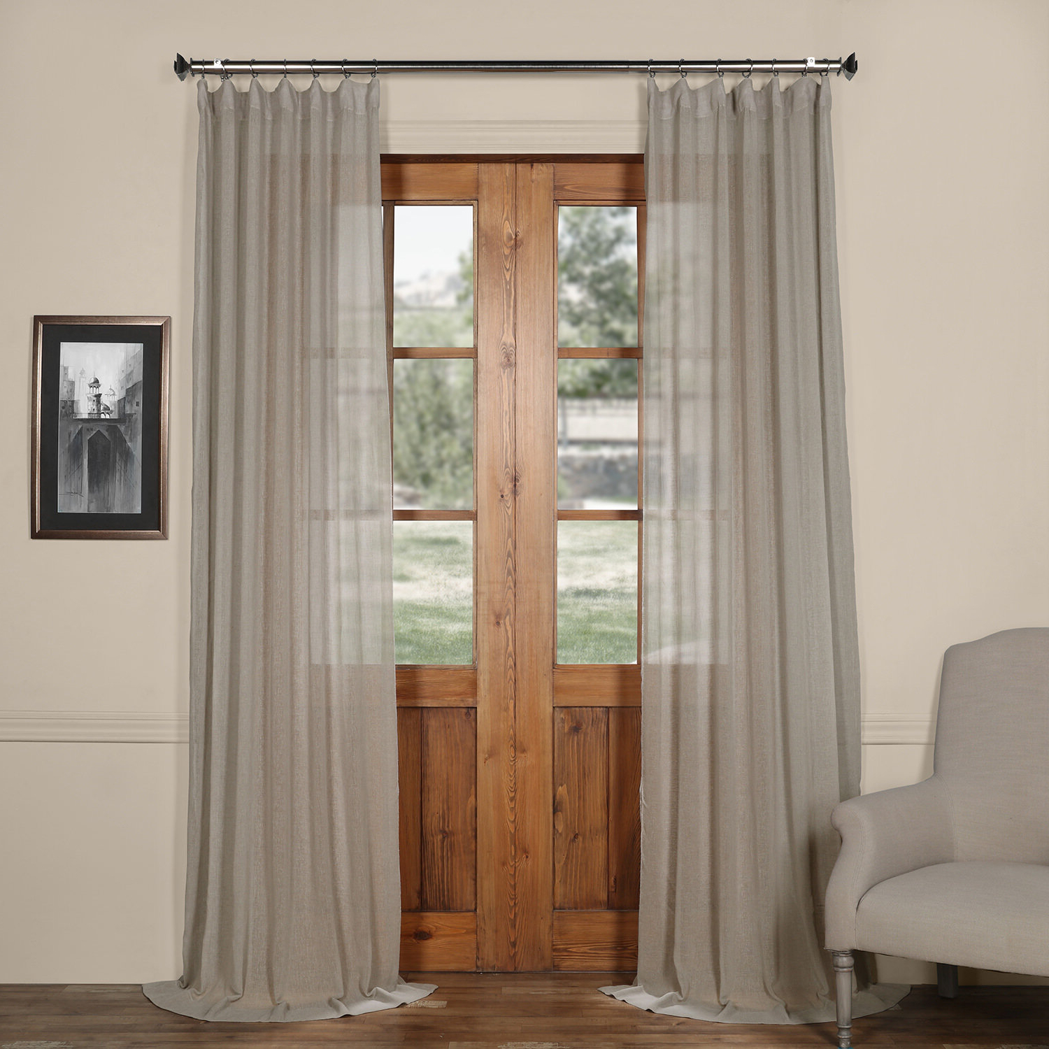 Widely Used Tab Top Sheer Single Curtain Panels Throughout Bowley Solid Sheer Tab Top Single Curtain Panel (View 7 of 20)